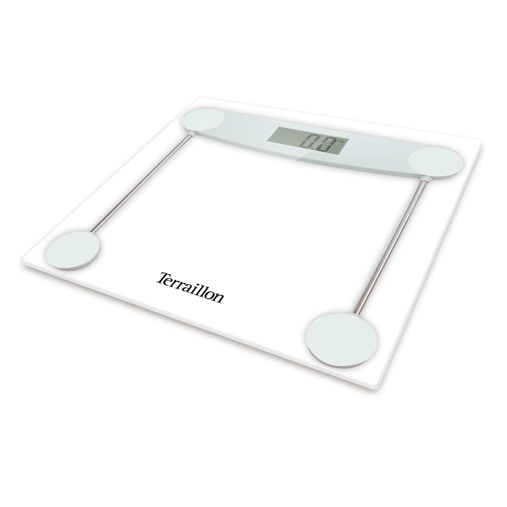 Image of Hanson HX5000 Clear Glass Electronic Bathroom Scales Clear