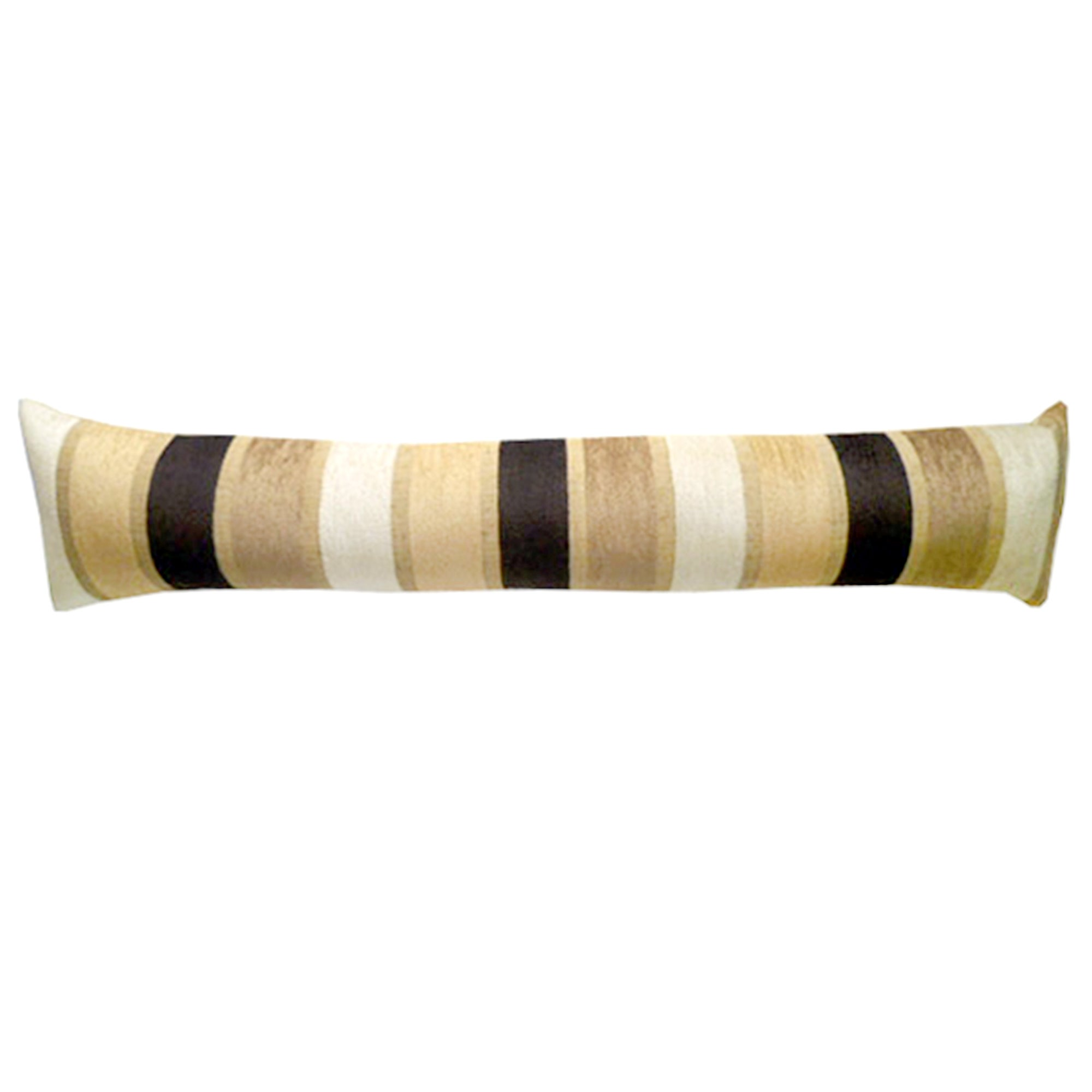 Veluto Stripe Draught Excluder Chocolate Brown
