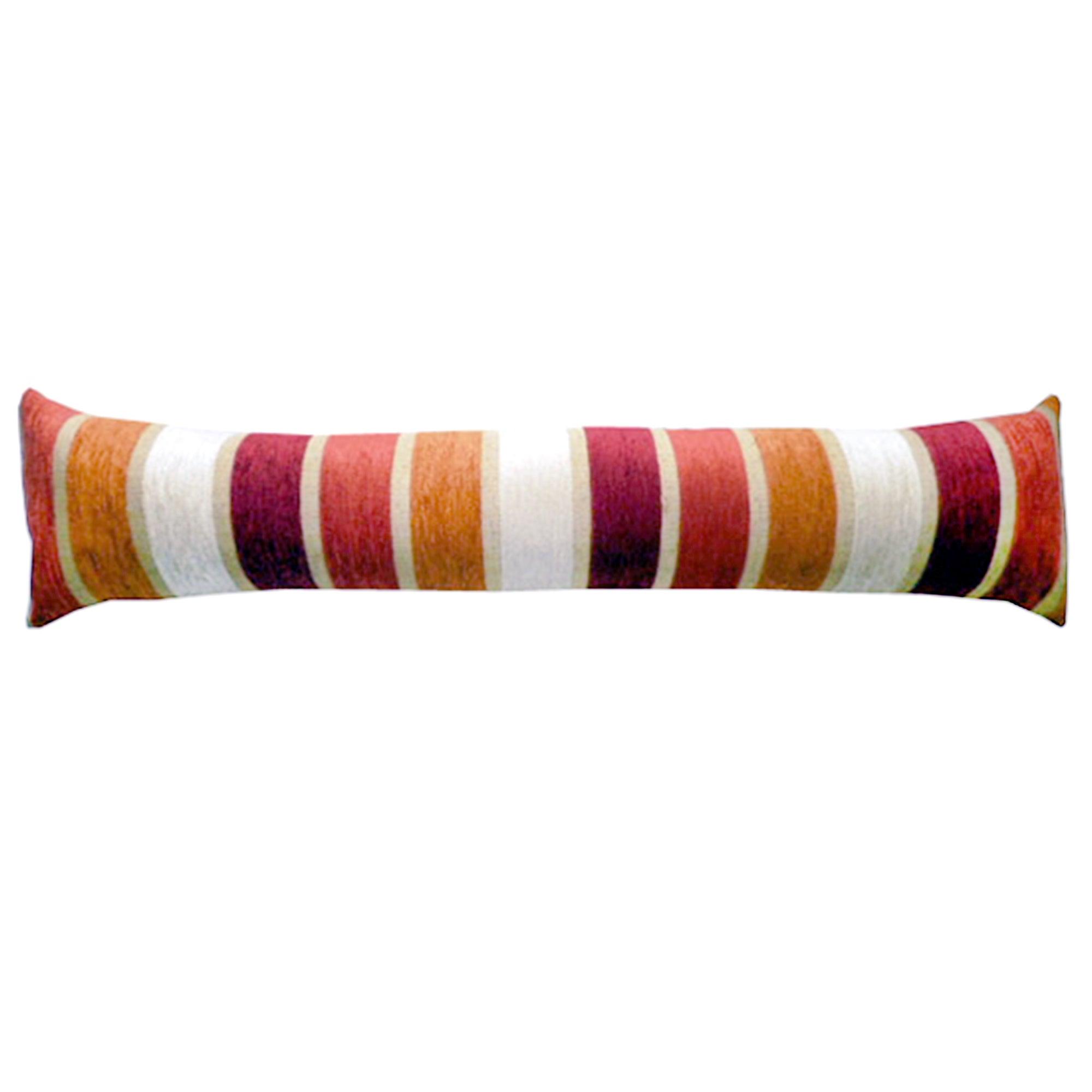 Veluto Stripe Draught Excluder Terracotta