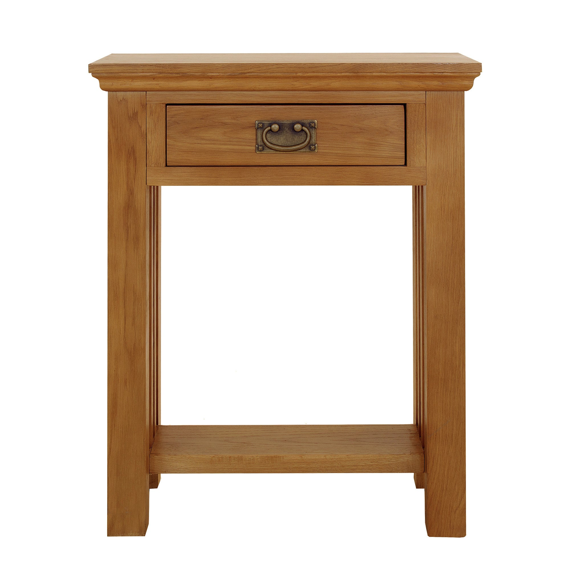 Photo of Dorchester oak telephone table light brown / natural
