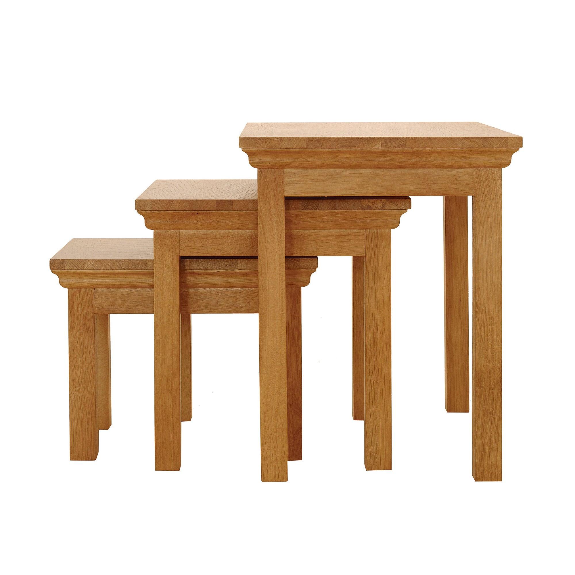 light oak nest of tables shop for cheap tables and save. Black Bedroom Furniture Sets. Home Design Ideas