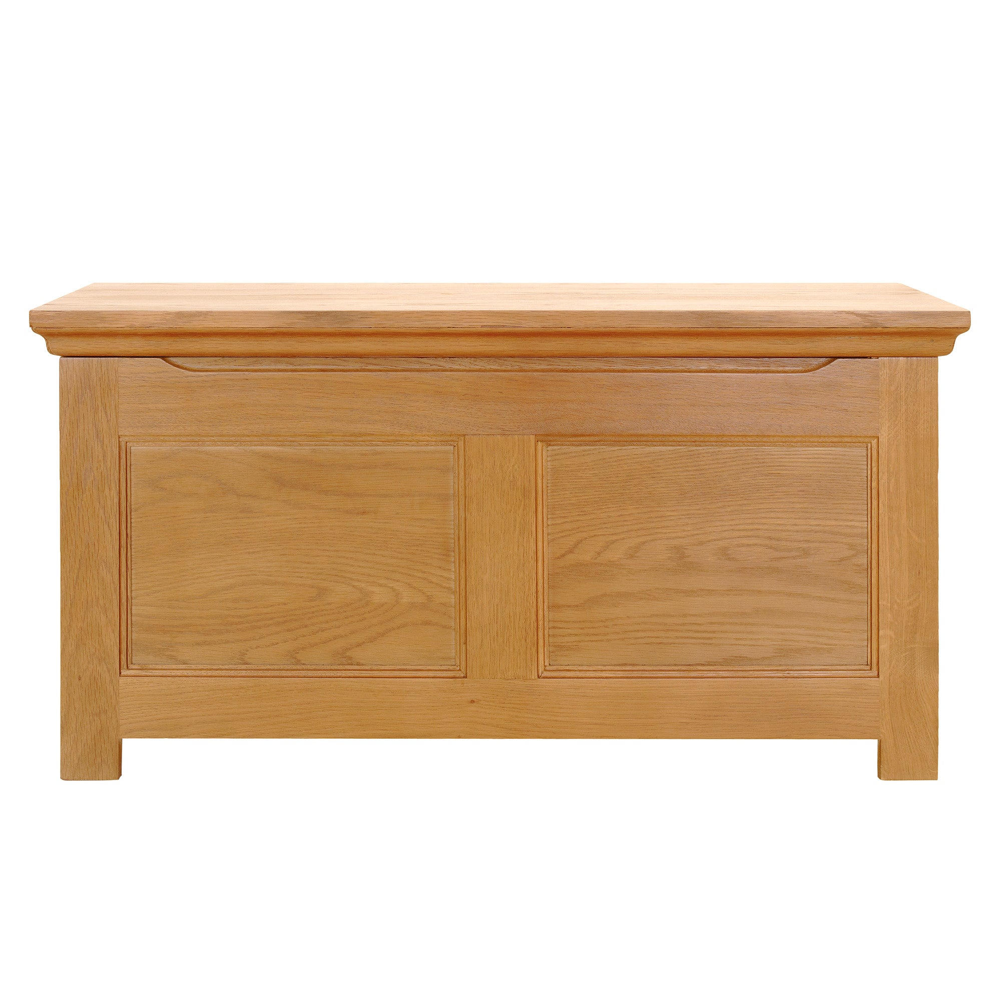 Photo of Dorchester oak blanket box light brown