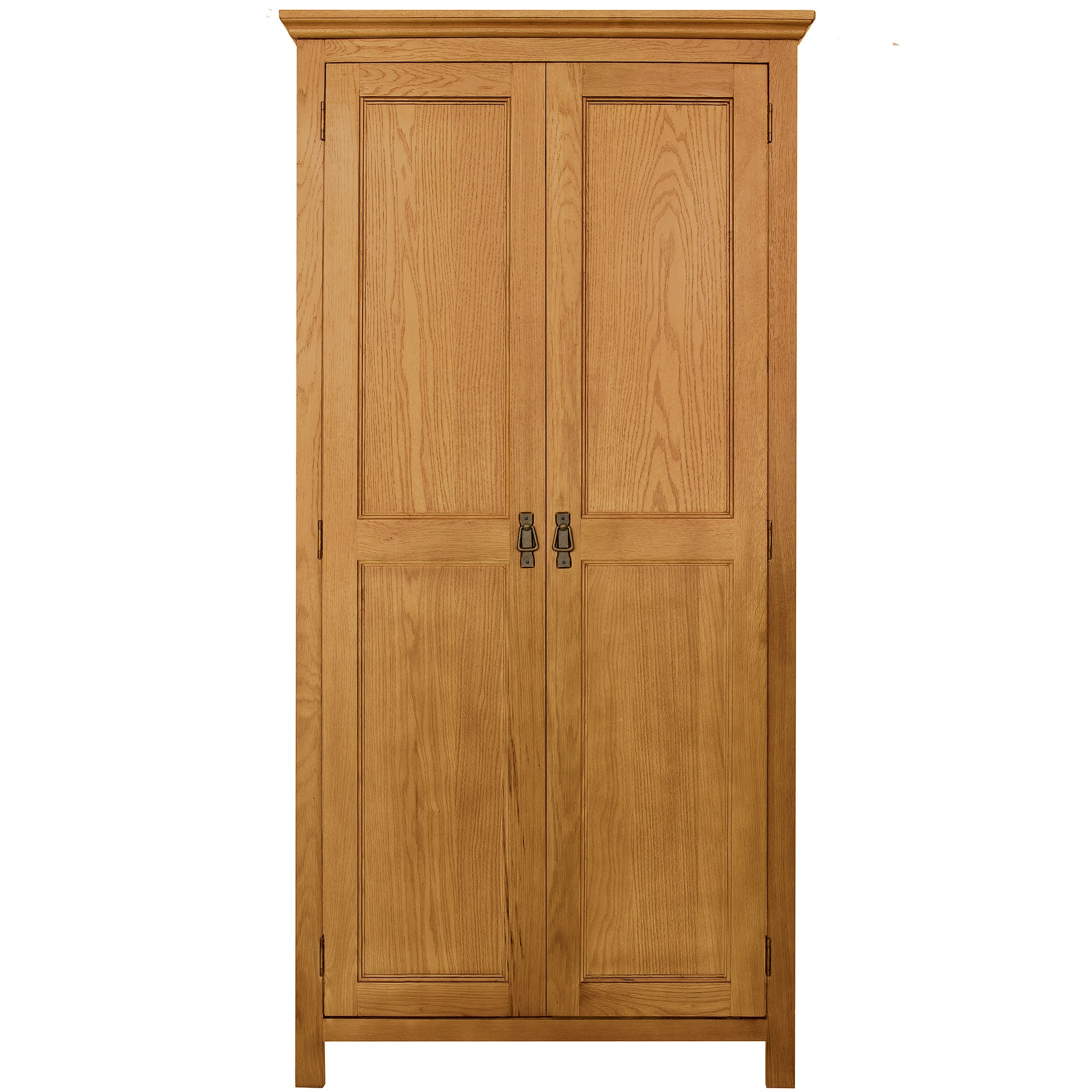 Photo of Dorchester oak double wardrobe light brown / natural