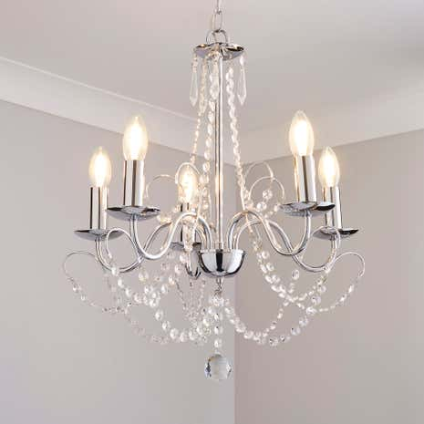 Gatsby 5 light chandelier dunelm gatsby 5 light chandelier mozeypictures Images