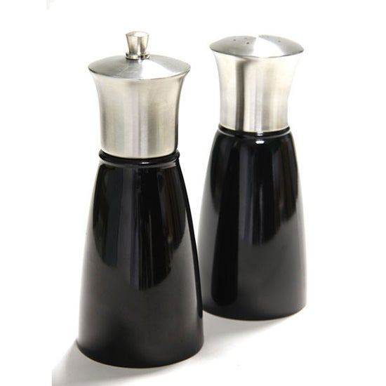 Black Spectrum Salt And Pepper Mill Set Black