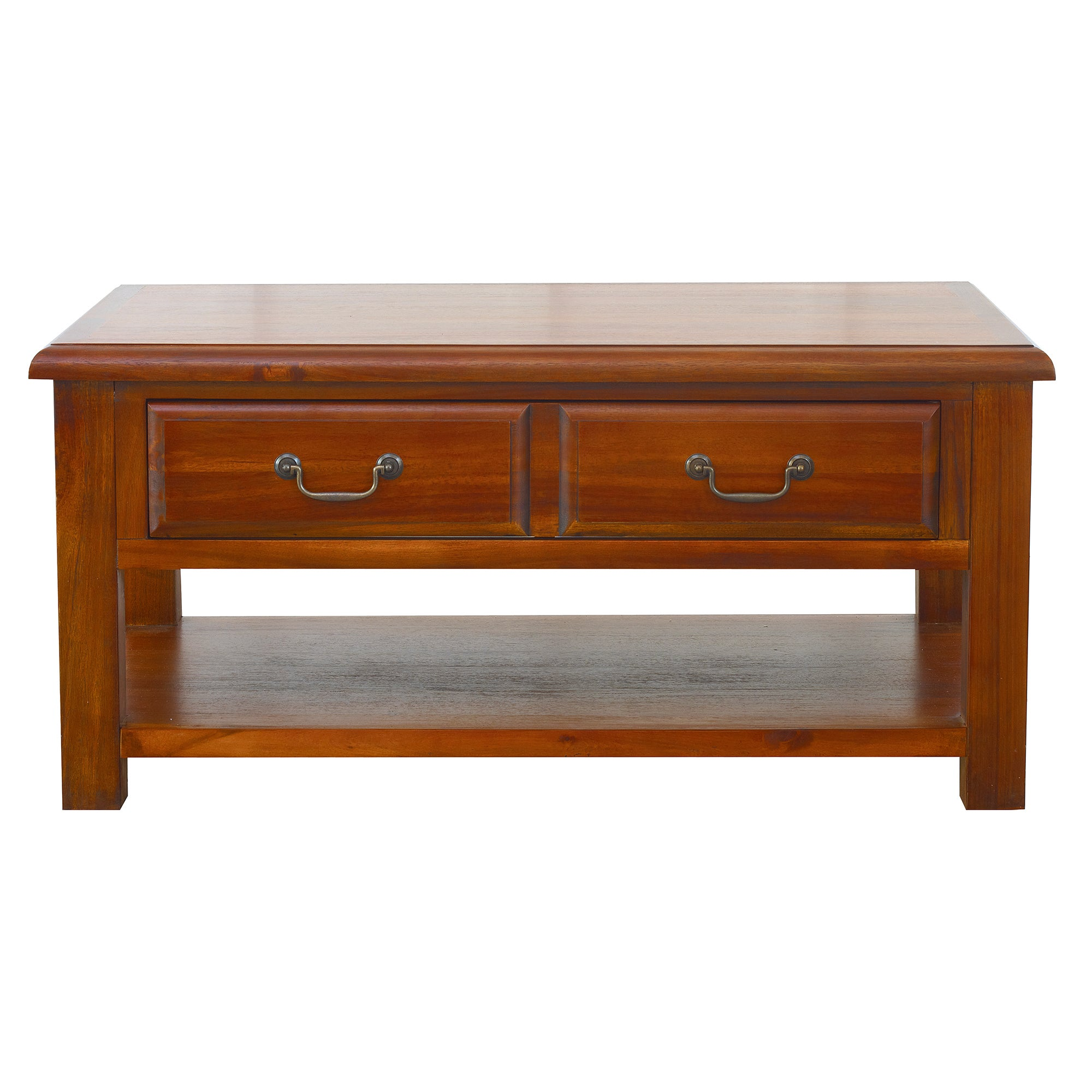 Photo of Winchester acacia coffee table chestnut brown