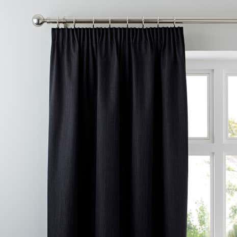 White Curtains black out white curtains : Solar Black Blackout Pencil Pleat Curtains | Dunelm