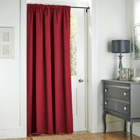 Toledo Claret Thermal Door Curtain Dunelm & industrial door curtains - Radkahair.org | Home Design Ideas