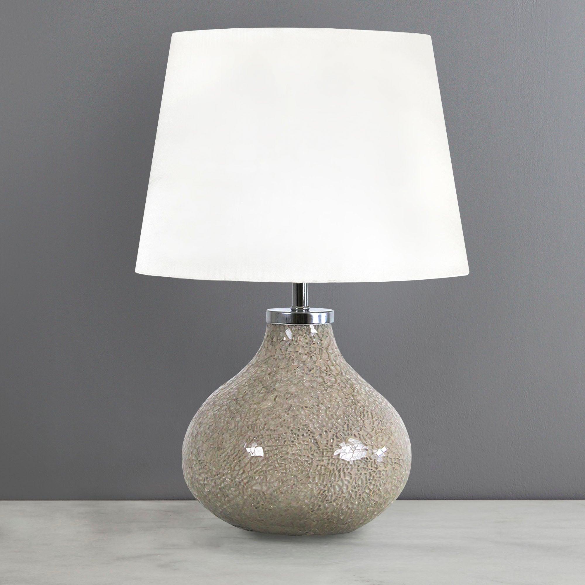 Photo of Crackle glass lamp cream