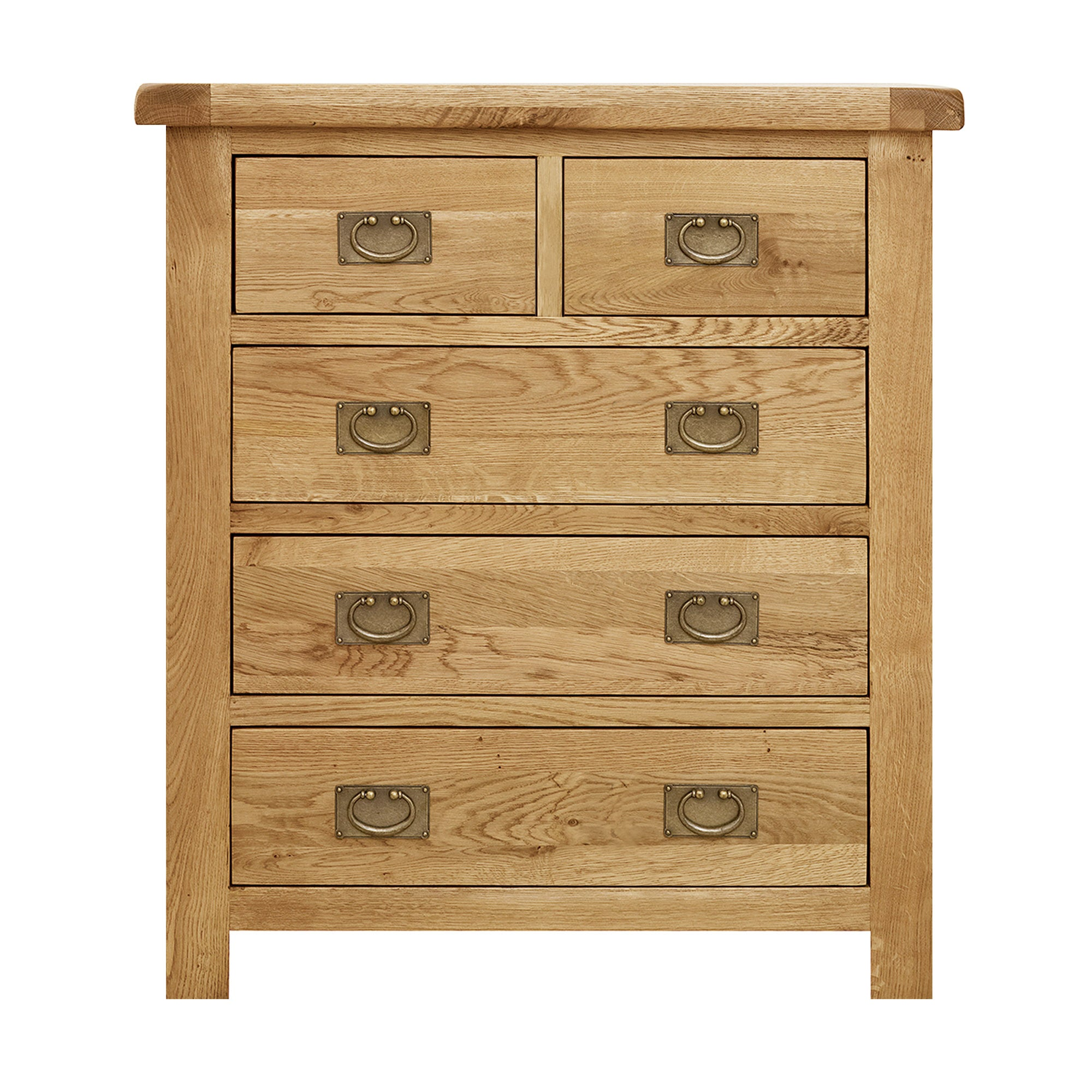 Photo of Aylesbury oak 5 drawer chest light brown / natural