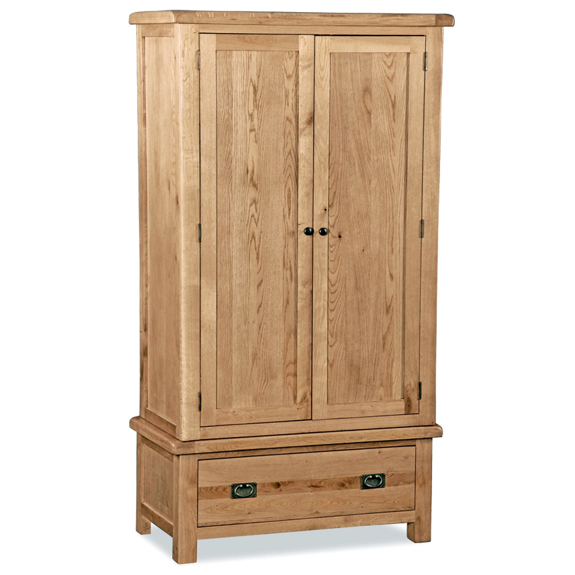 Photo of Aylesbury oak double wardrobe light brown / natural