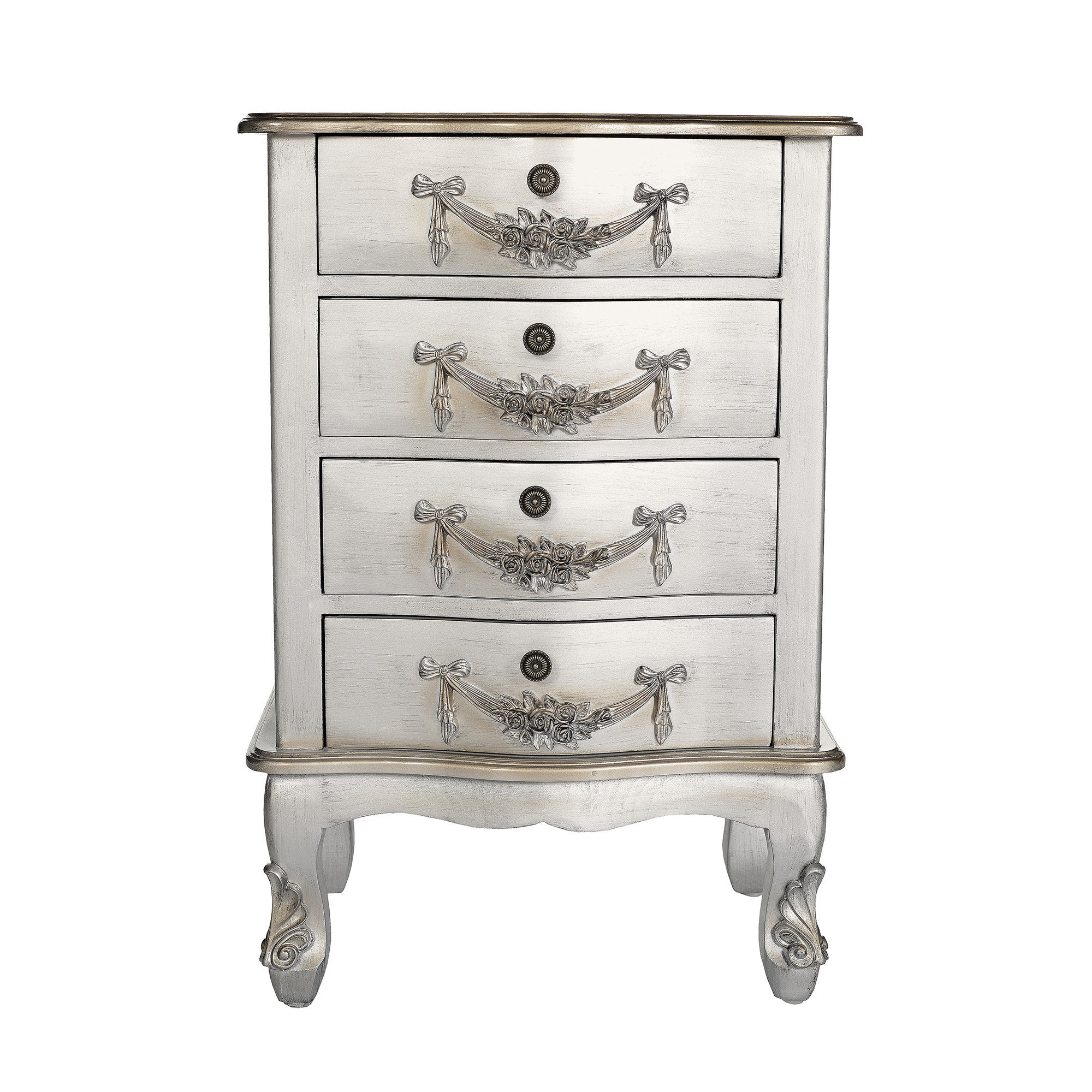 Photo of Toulouse silver 4 drawer chest silver