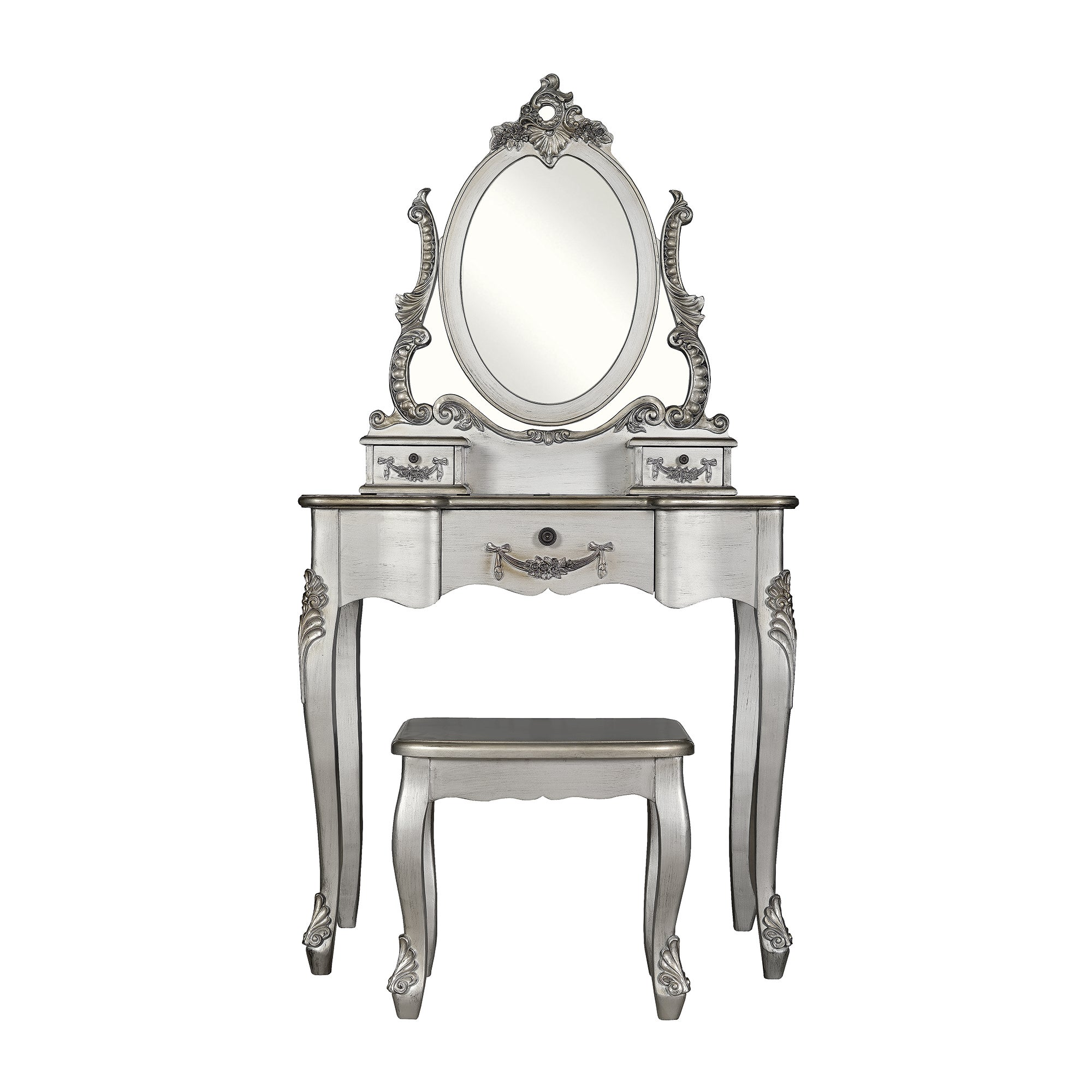 Photo of Toulouse silver dressing table set silver