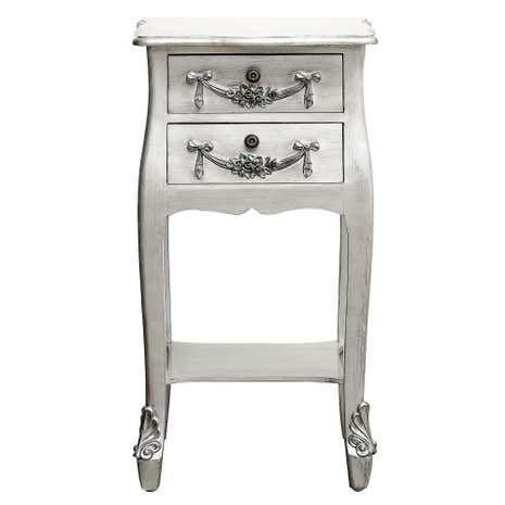 Toulouse Silver Drawer Bedside Table Dunelm - Toulouse bedroom furniture white