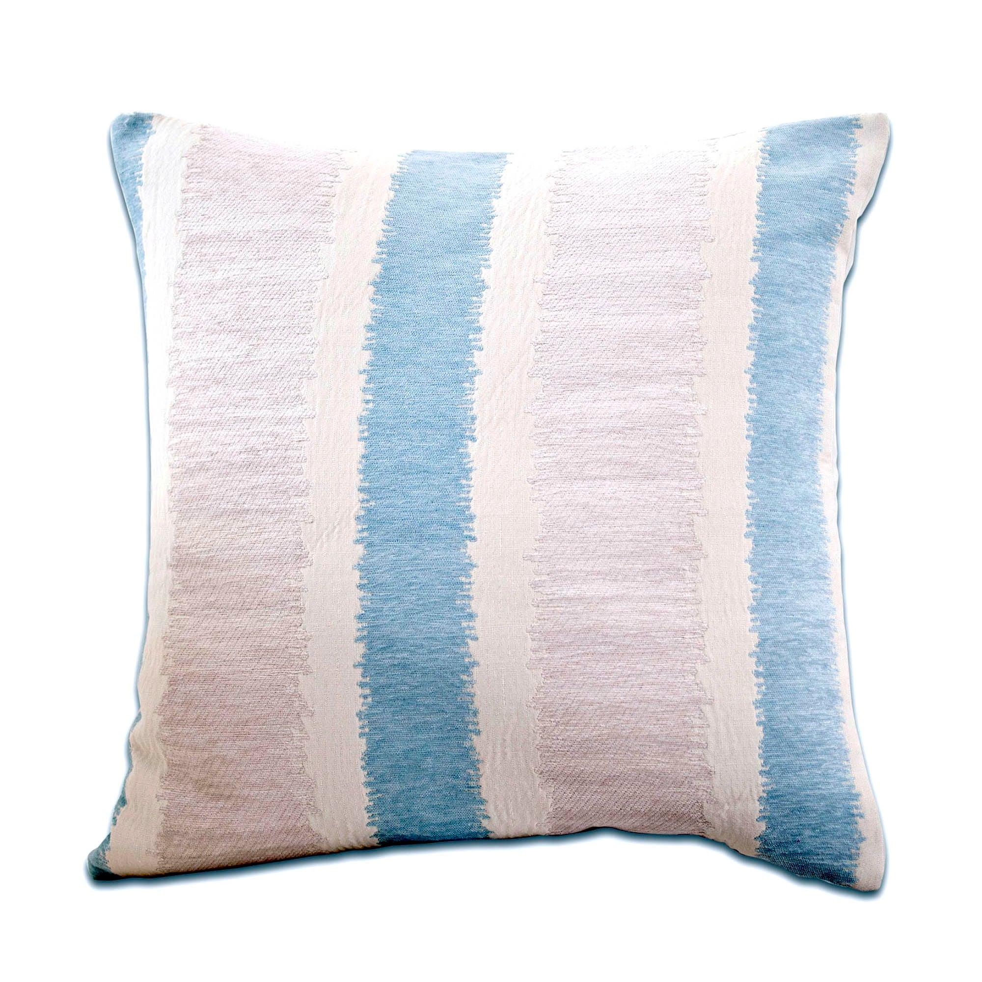 Chenille Stripe Cushion Duck Egg Blue