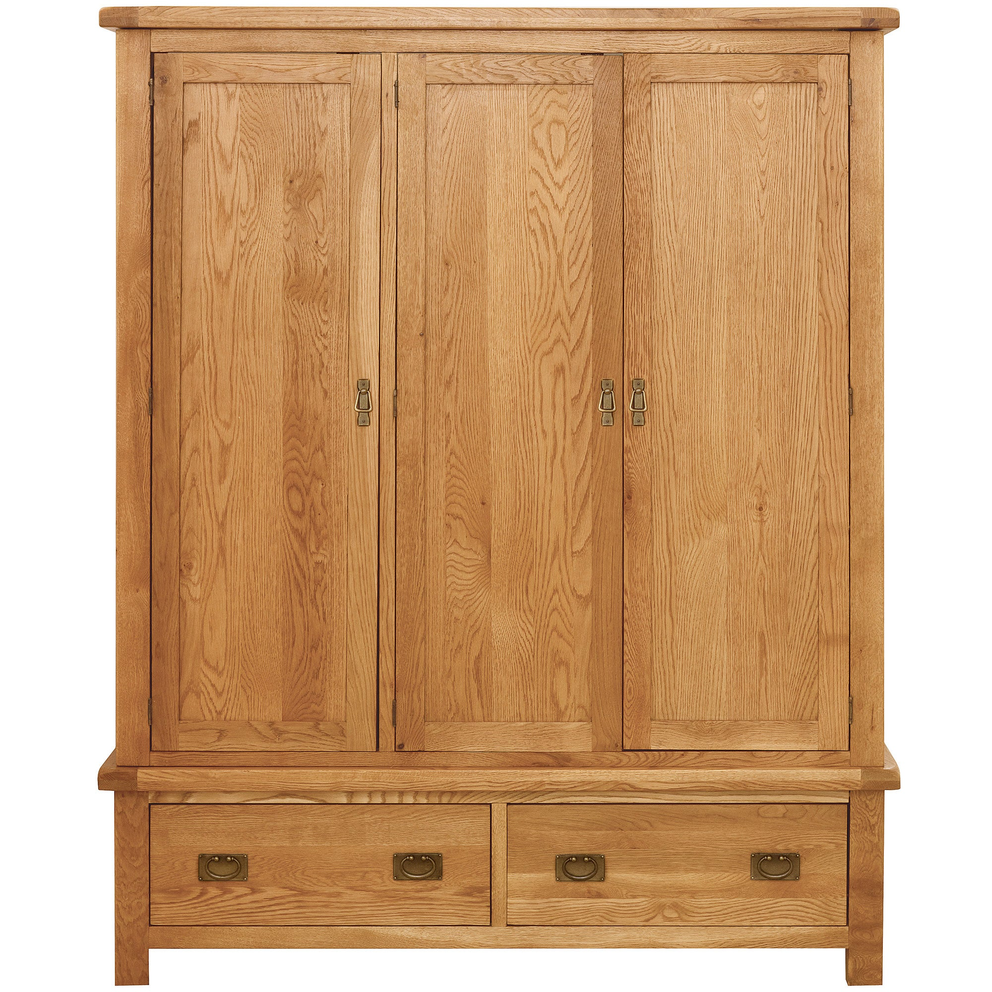 Photo of Dorchester oak triple wardrobe light brown / natural