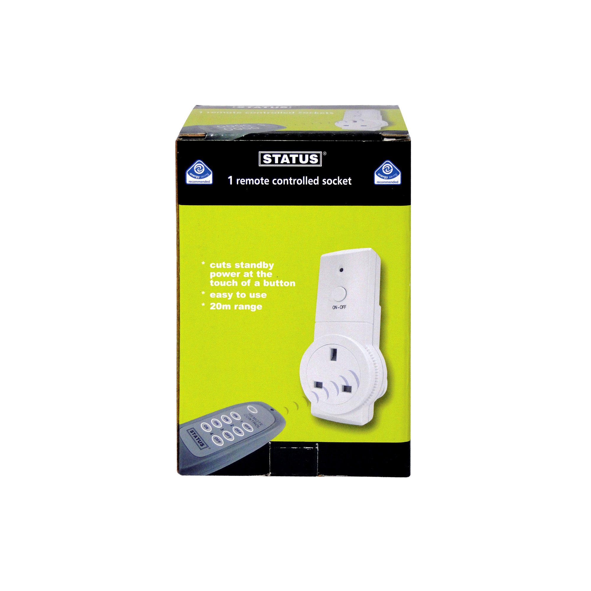 Status Remote Control Socket White
