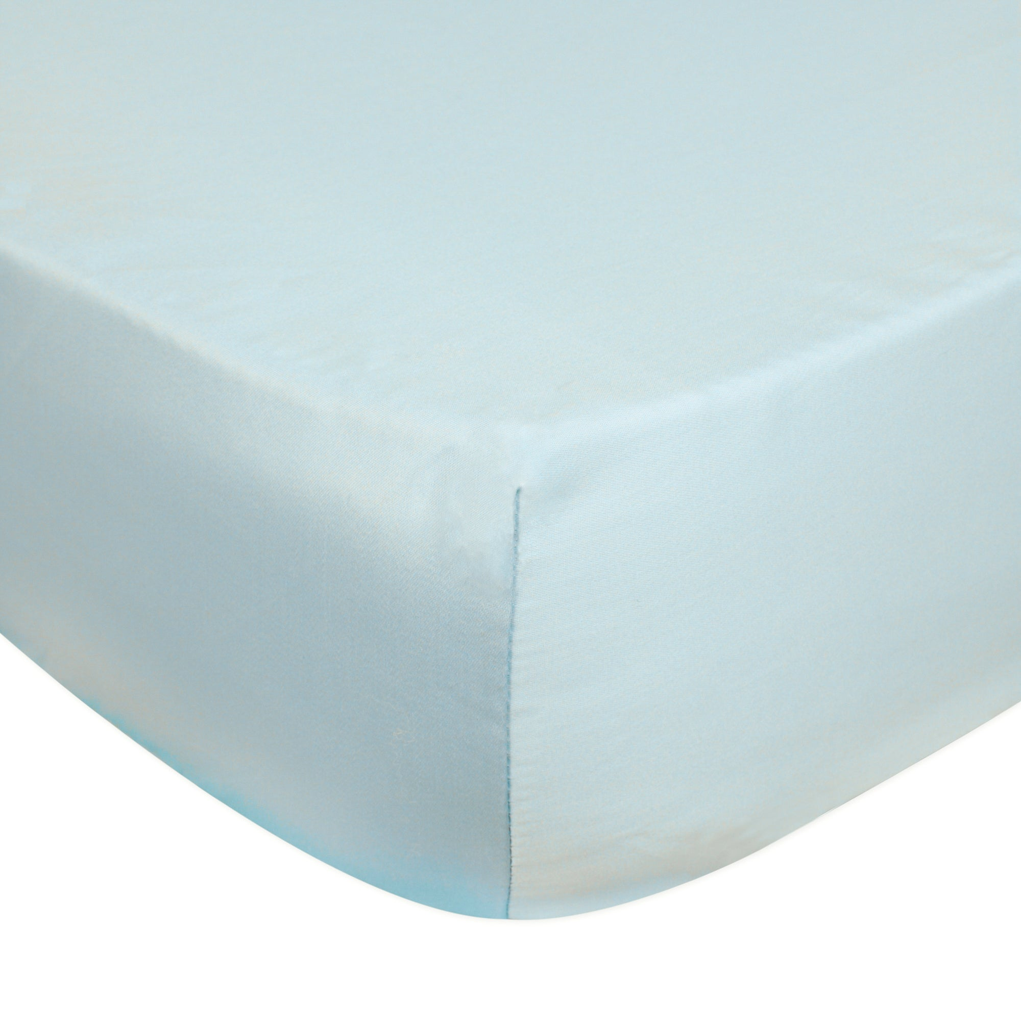 Dorma Plain Dye 350 Thread Count Duck Egg Blue Fitted Sheet Duck Egg (Blue)