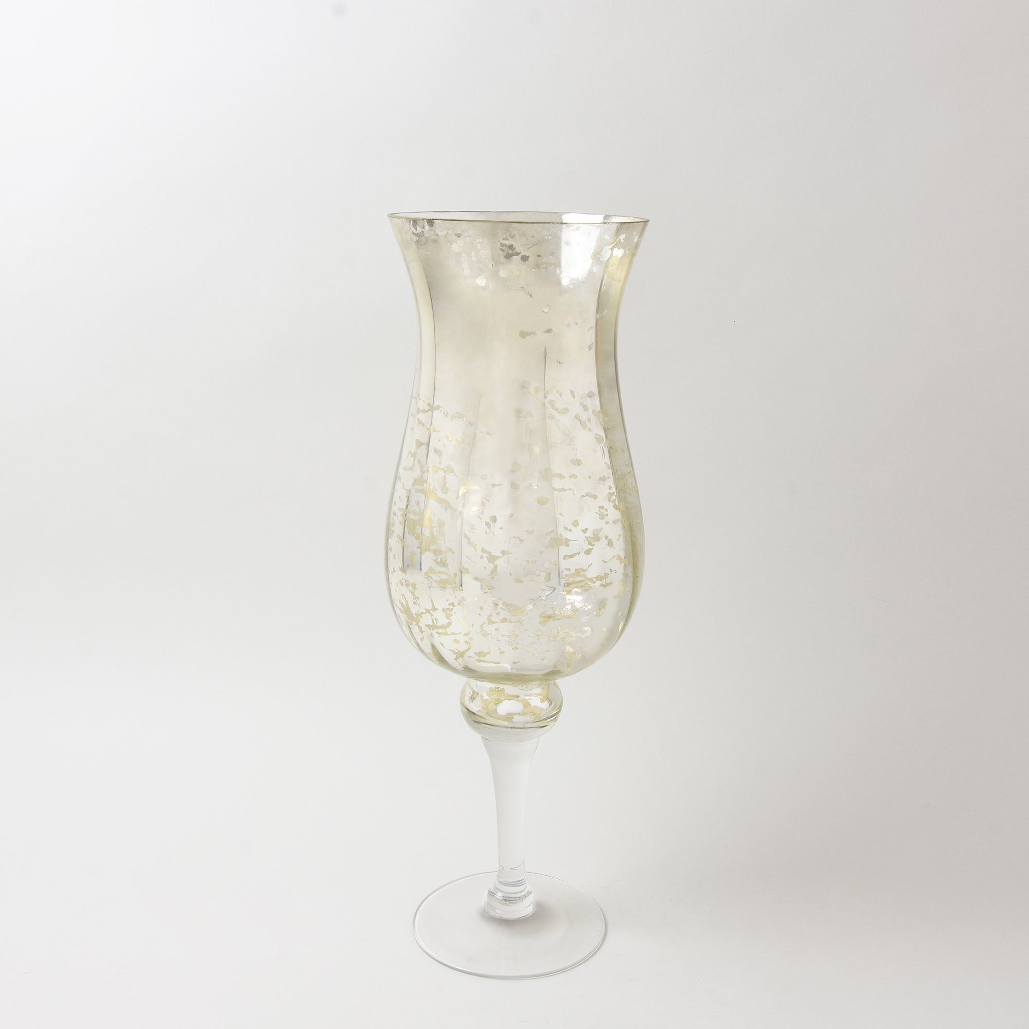 Photo of New naturals mottled glass hurricane vase gold