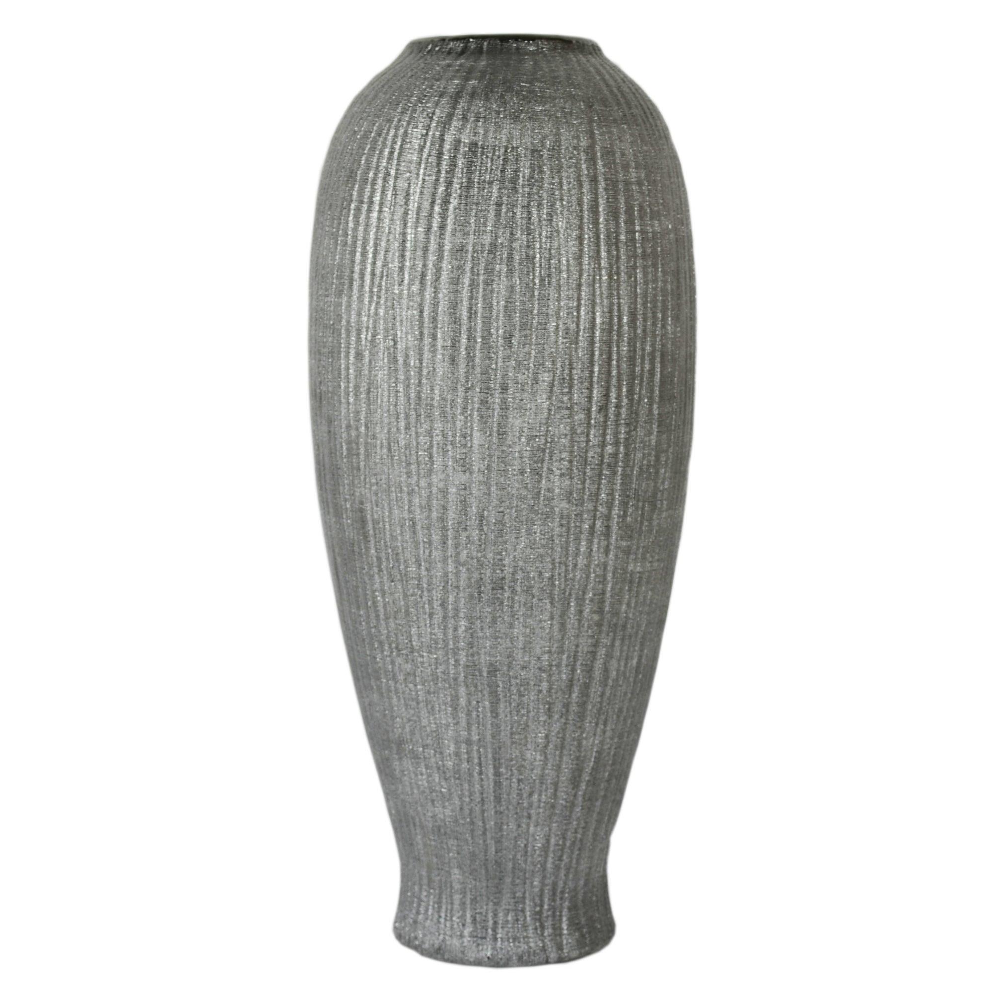 Photo of New naturals ridged vase grey / silver
