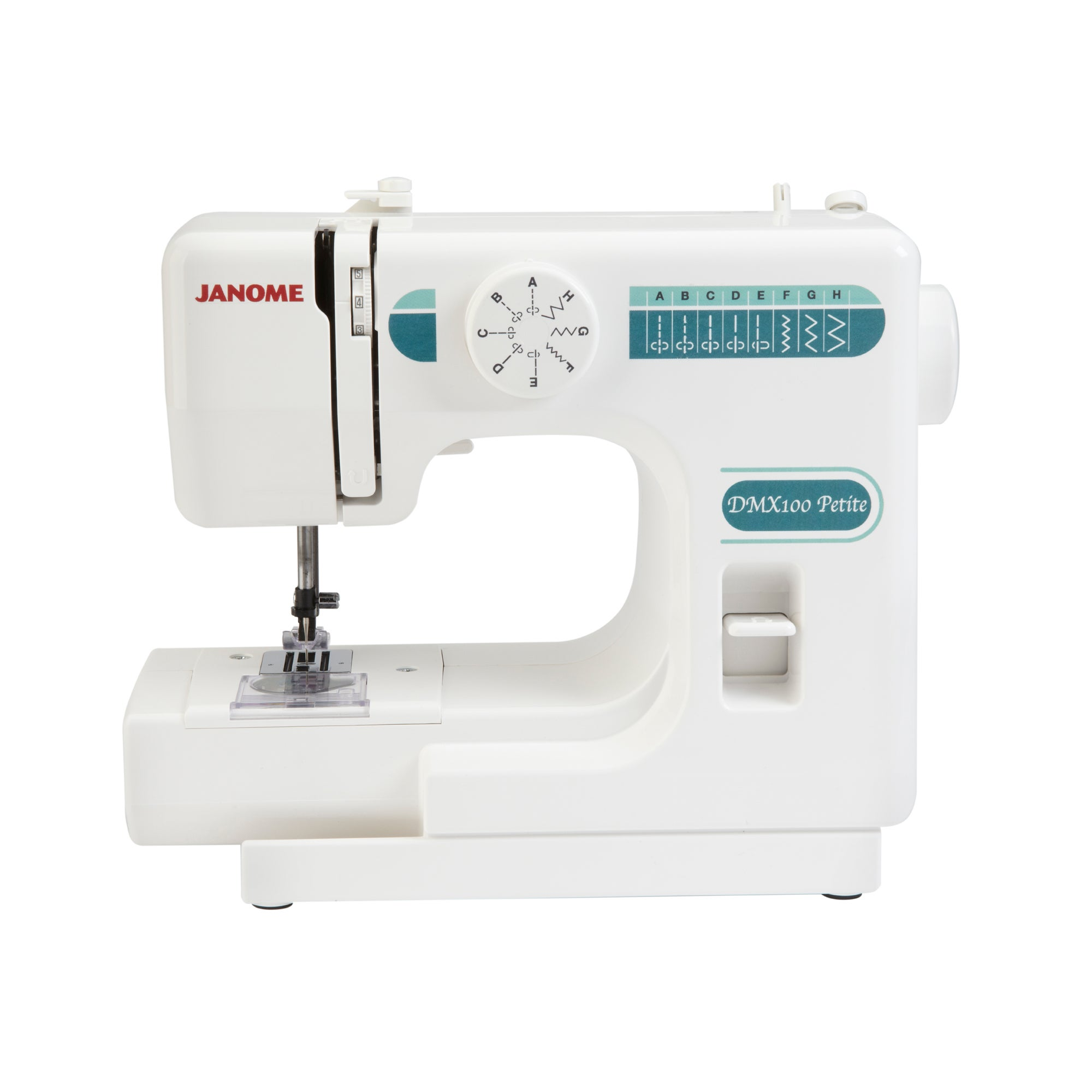 Janome DMX100 Petite Sewing Machine White