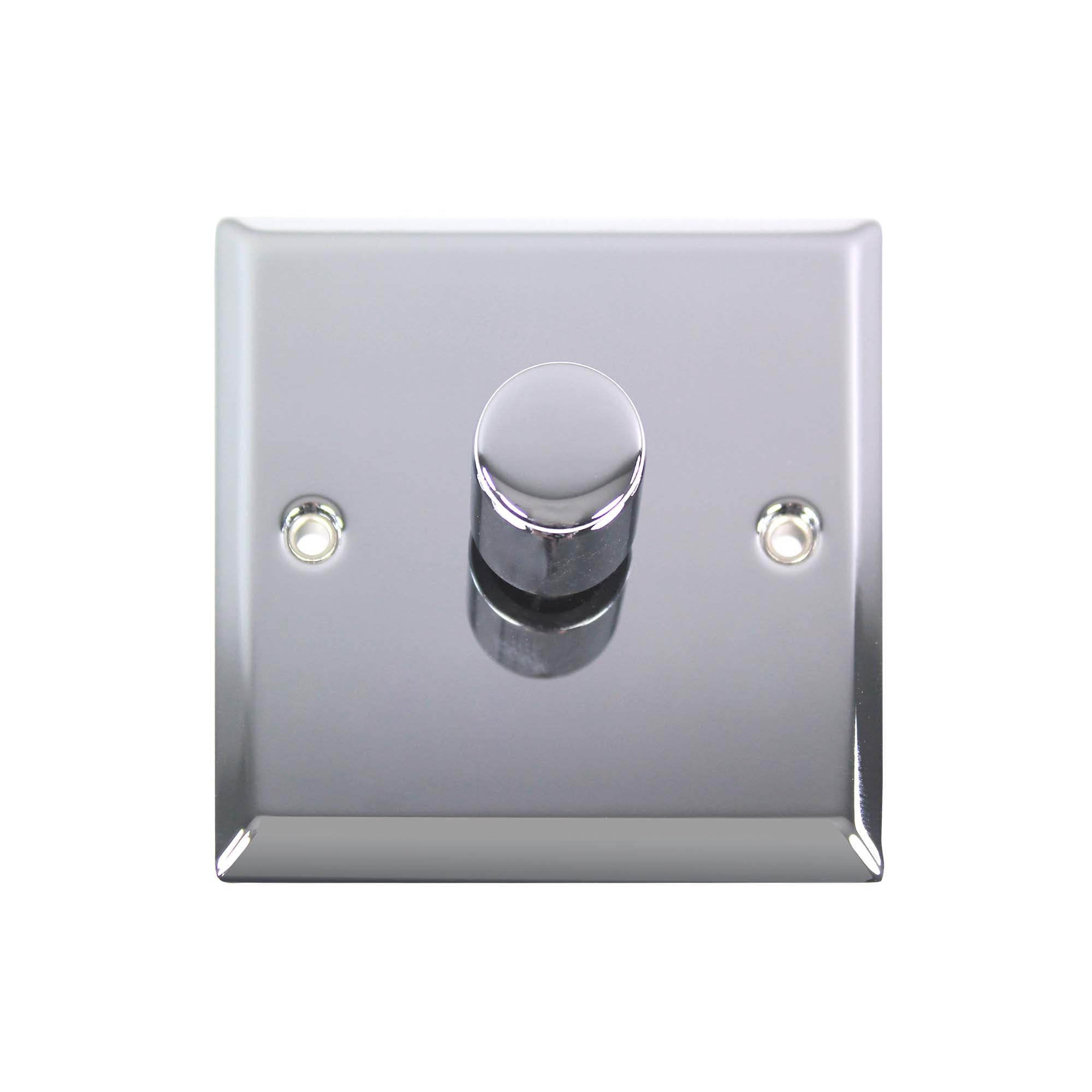 Image of 1 Gang 2 Way Chrome Dimmer Switch Silver