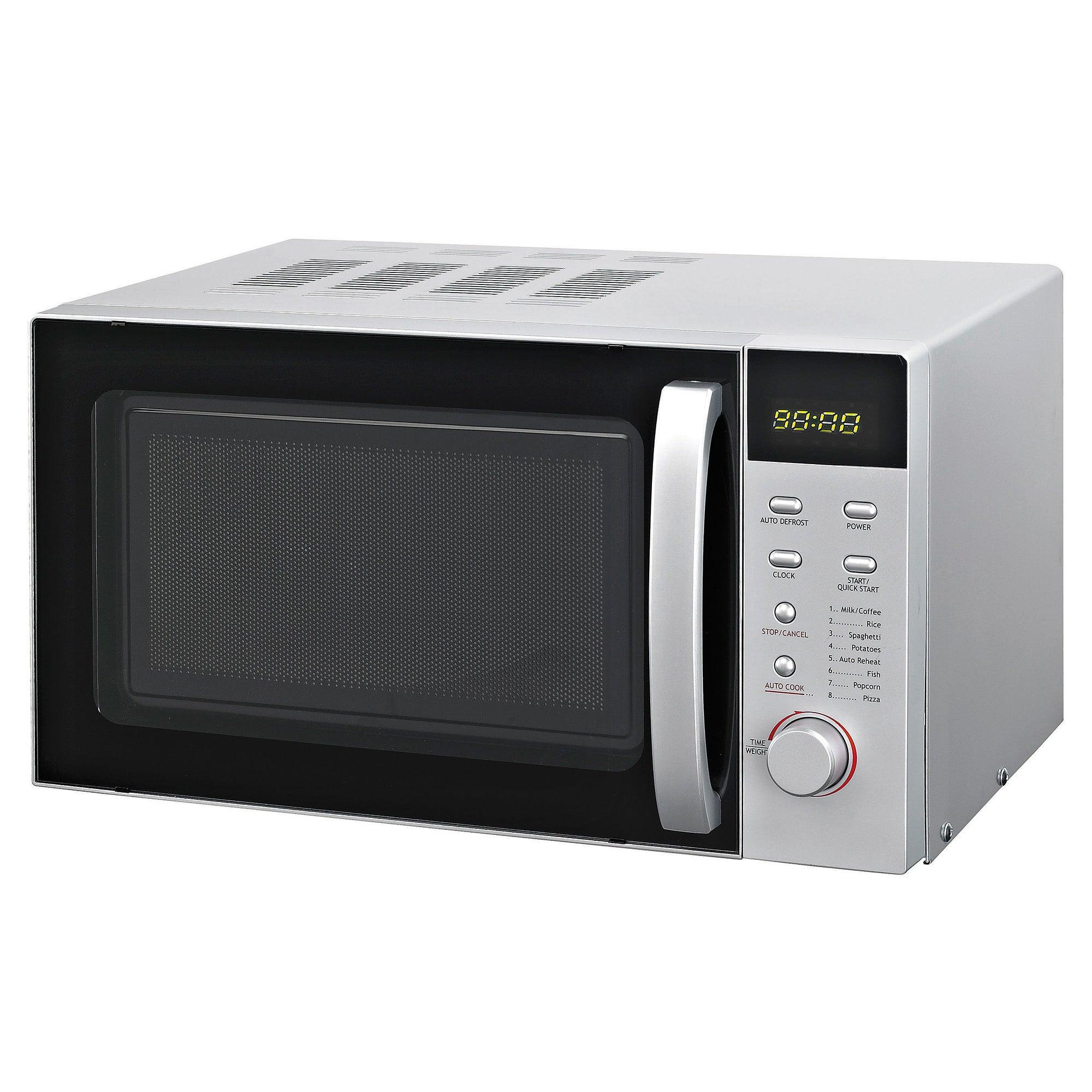 Dunelm 23L Silver Digital Microwave Silver