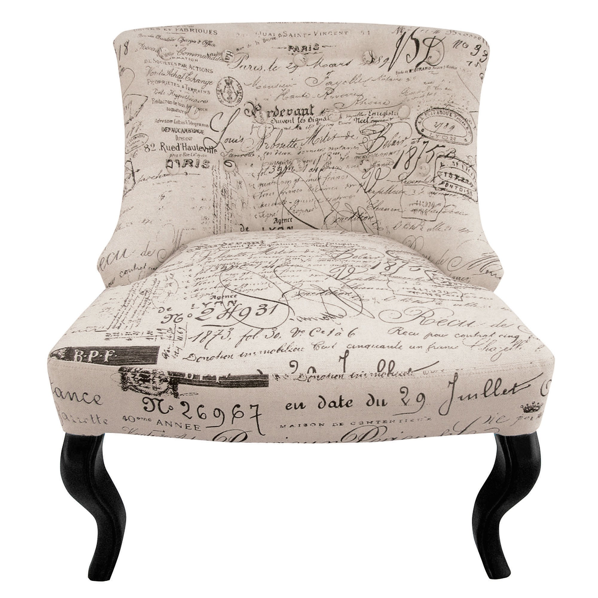 Photo of Natural script antoinette chair cream