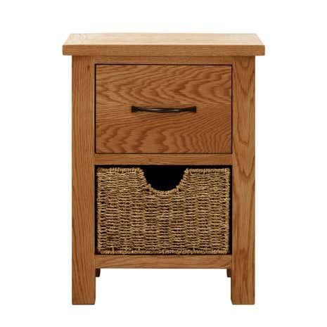 Sidmouth Oak 2 Drawer Bedside Table