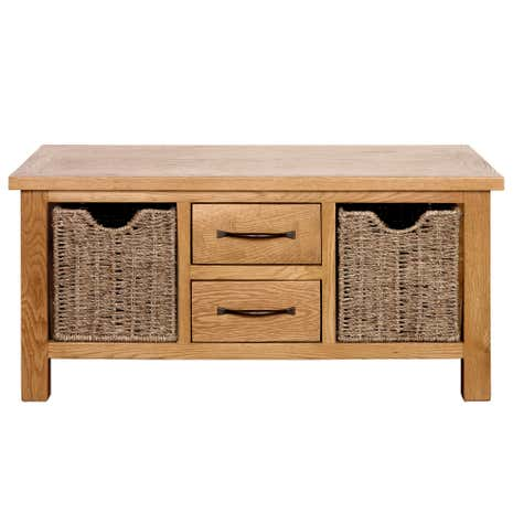 sidmouth oak coffee table | dunelm
