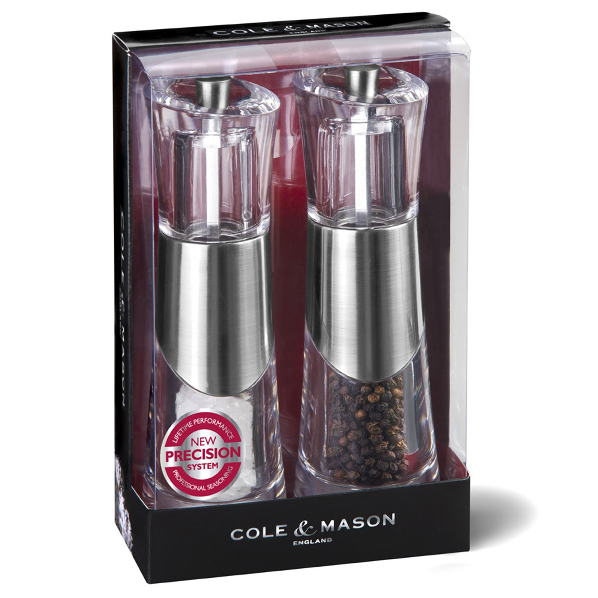 Photo of Cole & mason bobbi precision salt and pepper mill set clear