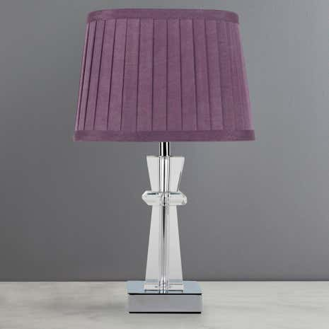 Pyramid Crystal Table Lamp