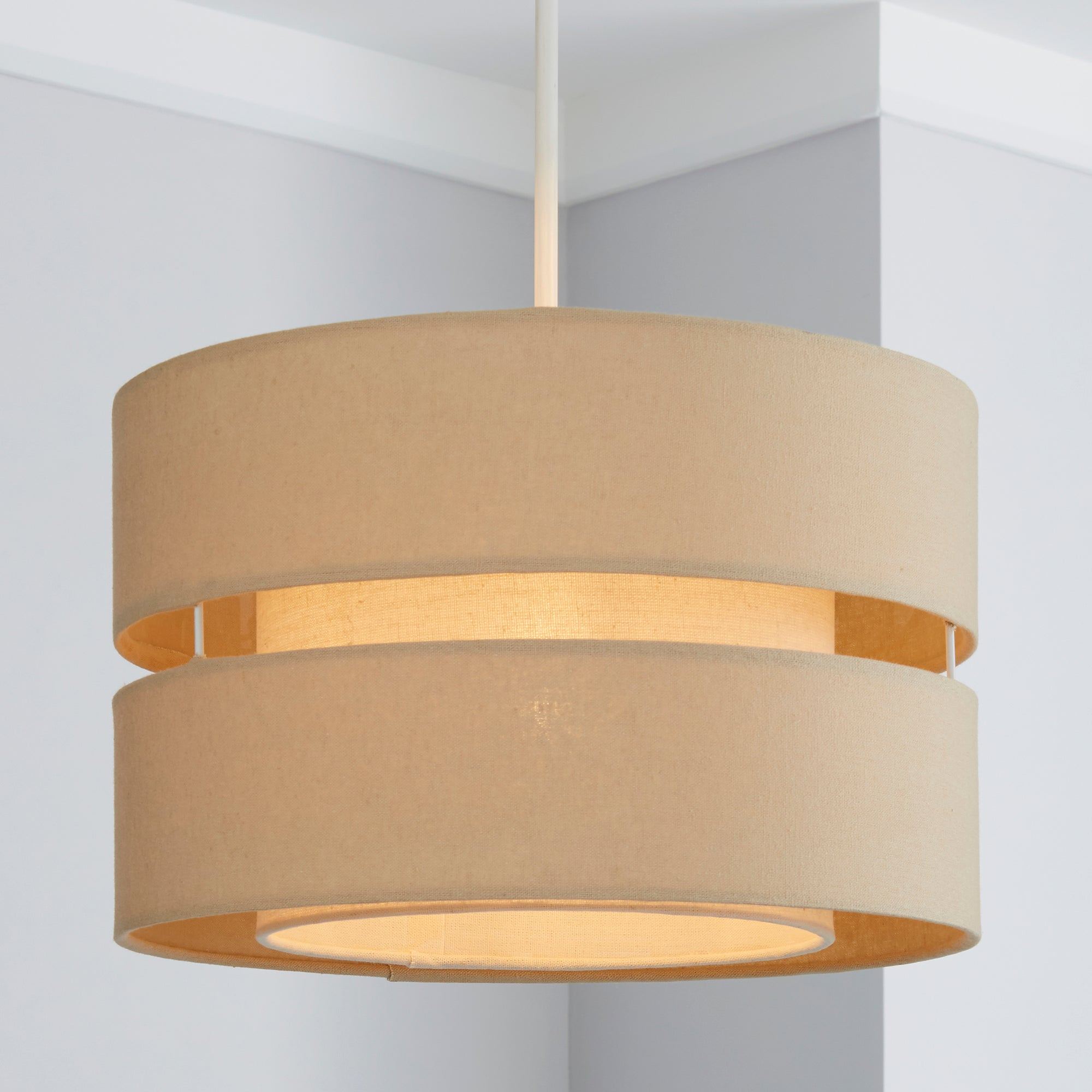 Photo of Frea pendant light shade cream -natural-