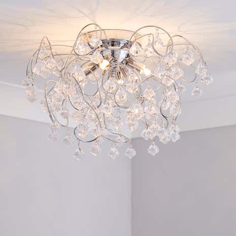 Layla Droplet Four Light Fitting Dunelm - Boys bedroom light fitting