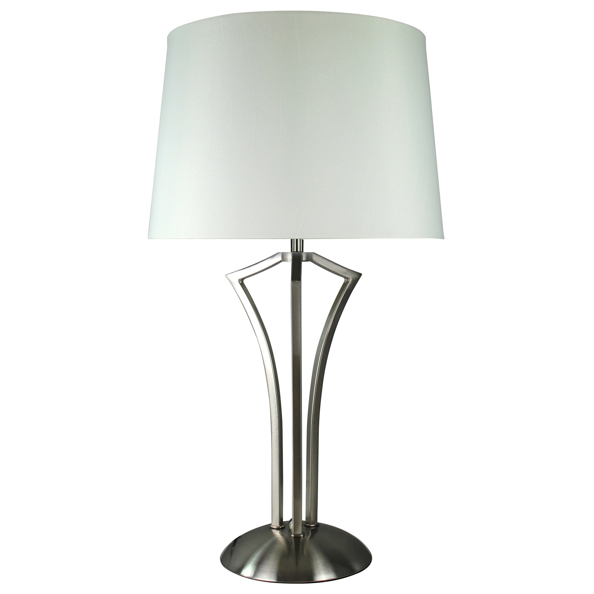 buy cheap silver table lamp compare lighting prices for. Black Bedroom Furniture Sets. Home Design Ideas