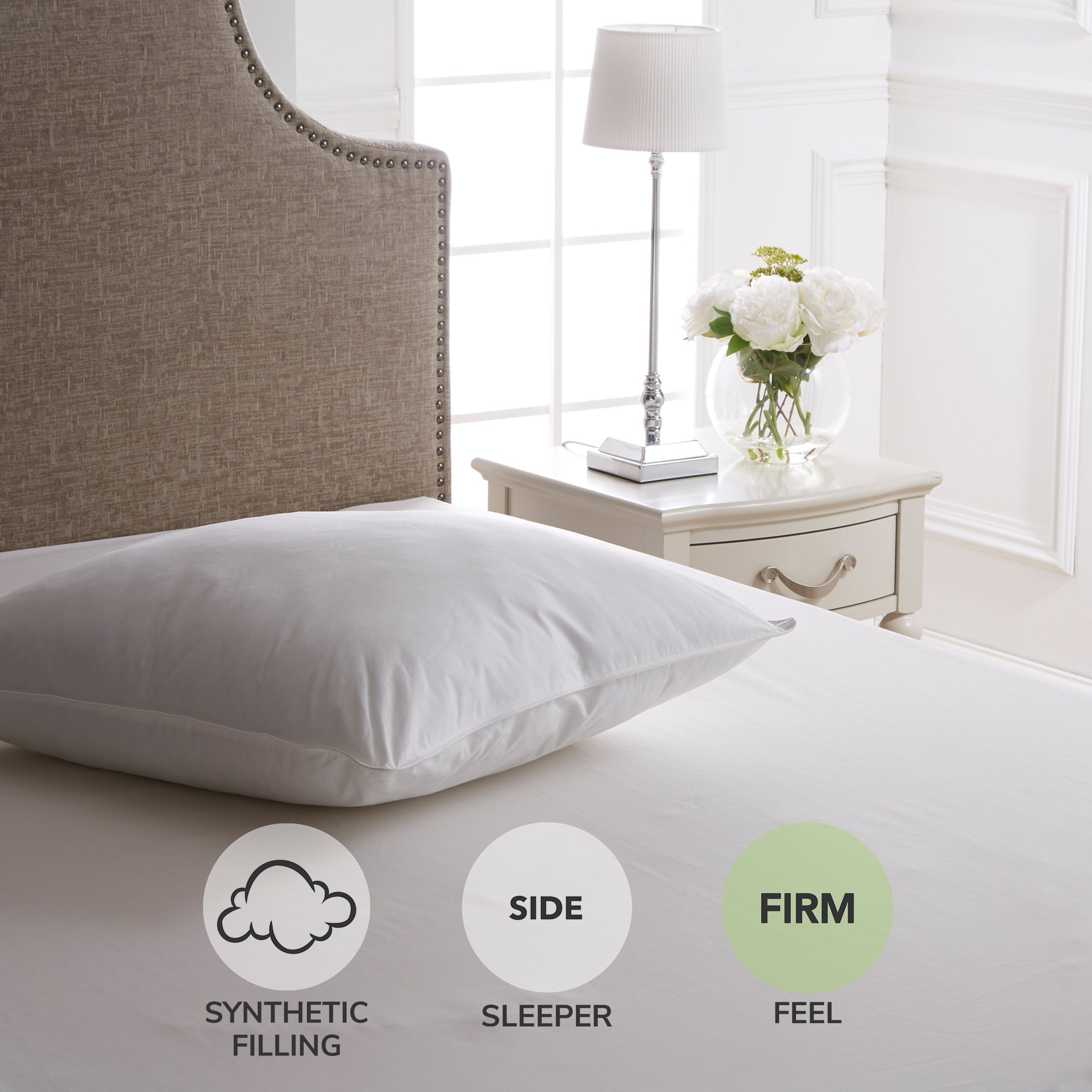 163 16 00 For Dorma Continental Firm Support Pillow White