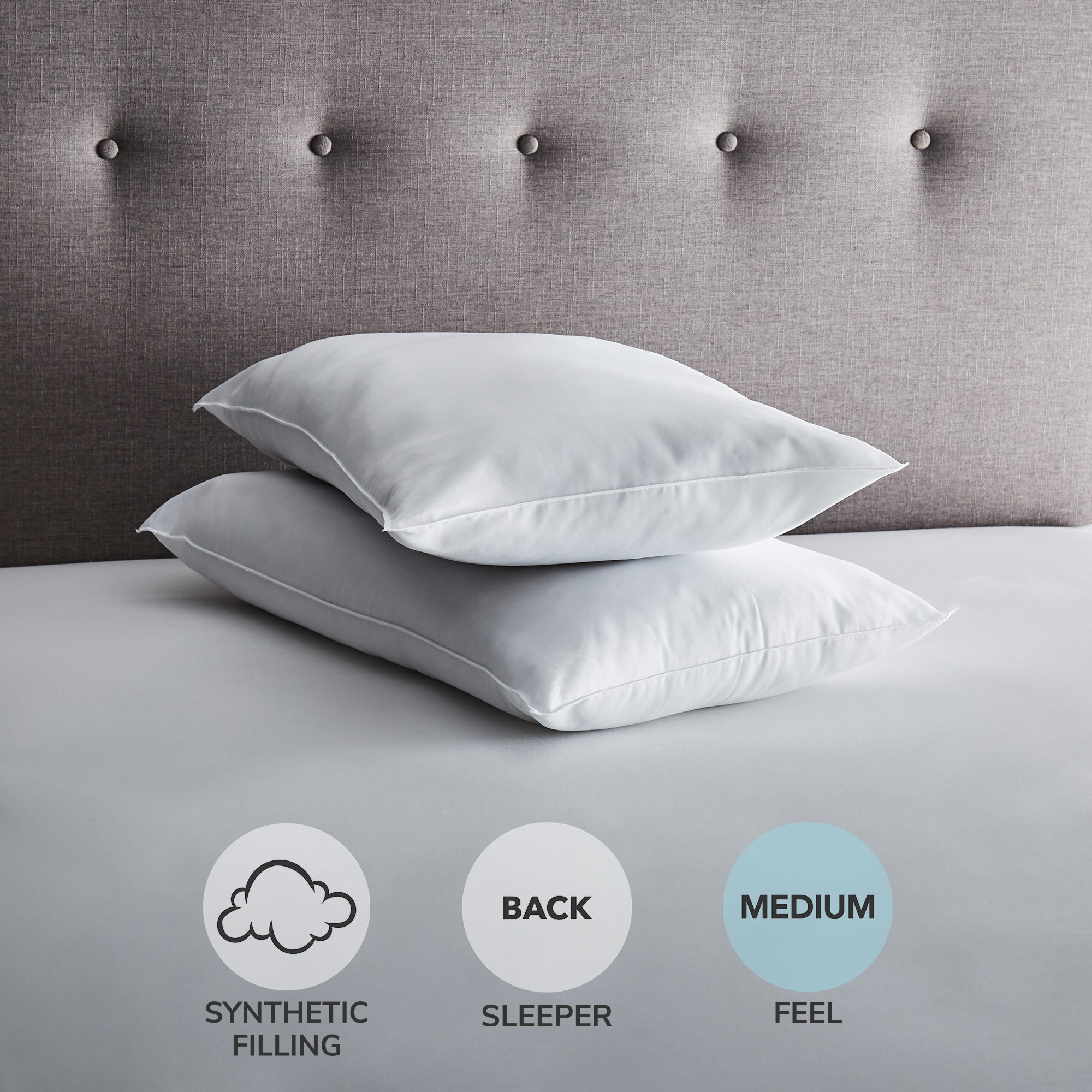 Image of Fogarty Anti-Allergy Soft-Support Pillow Pair White