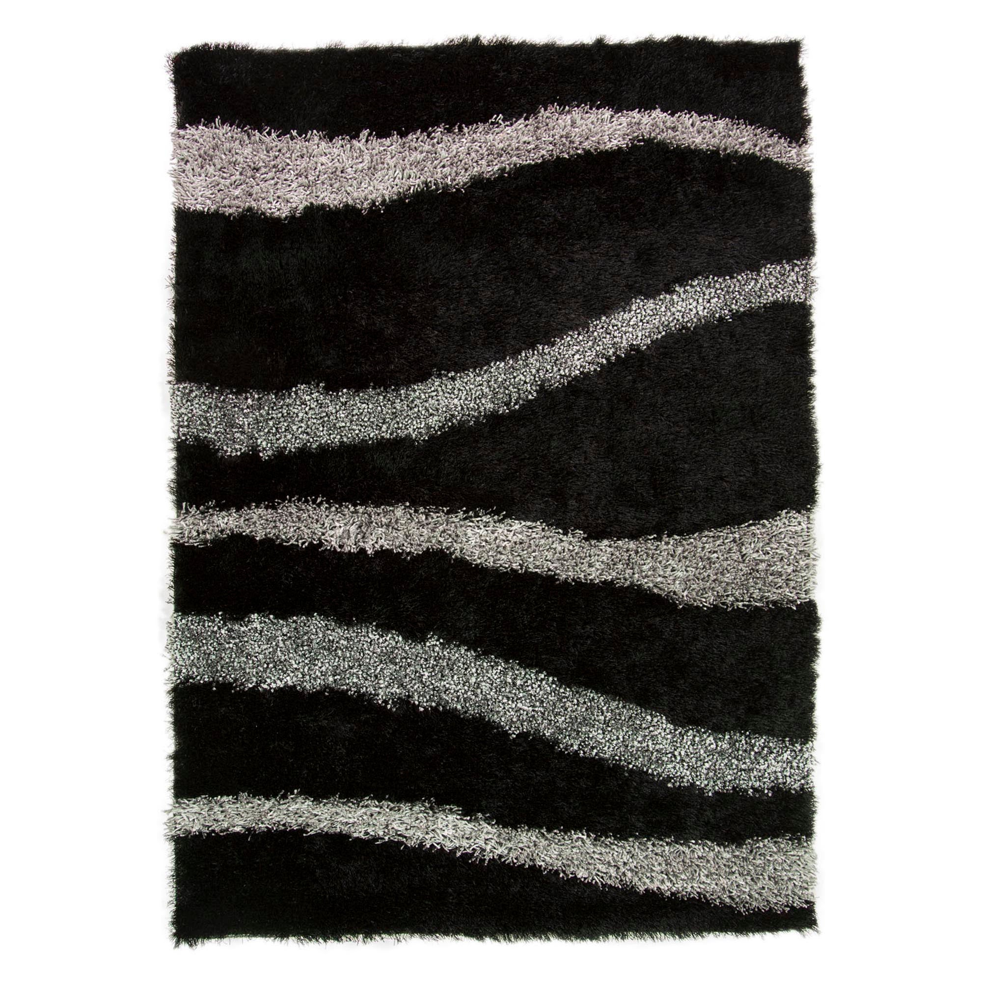 Photo of Black vibe shaggy rug black
