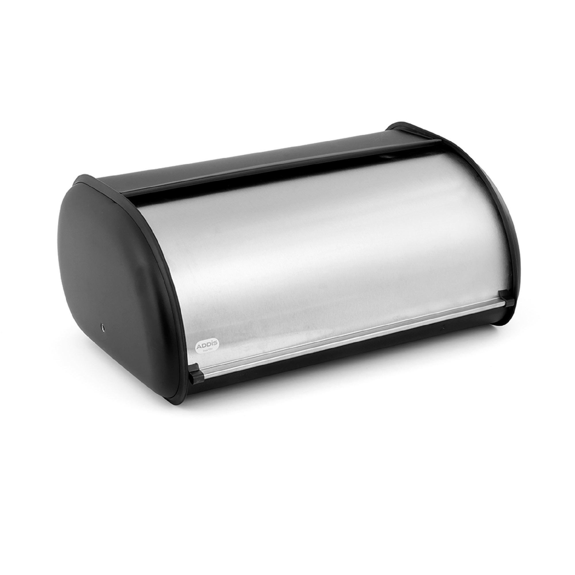Addis Deluxe Stainless Steel Roll Top Bread Bin Matt Silver