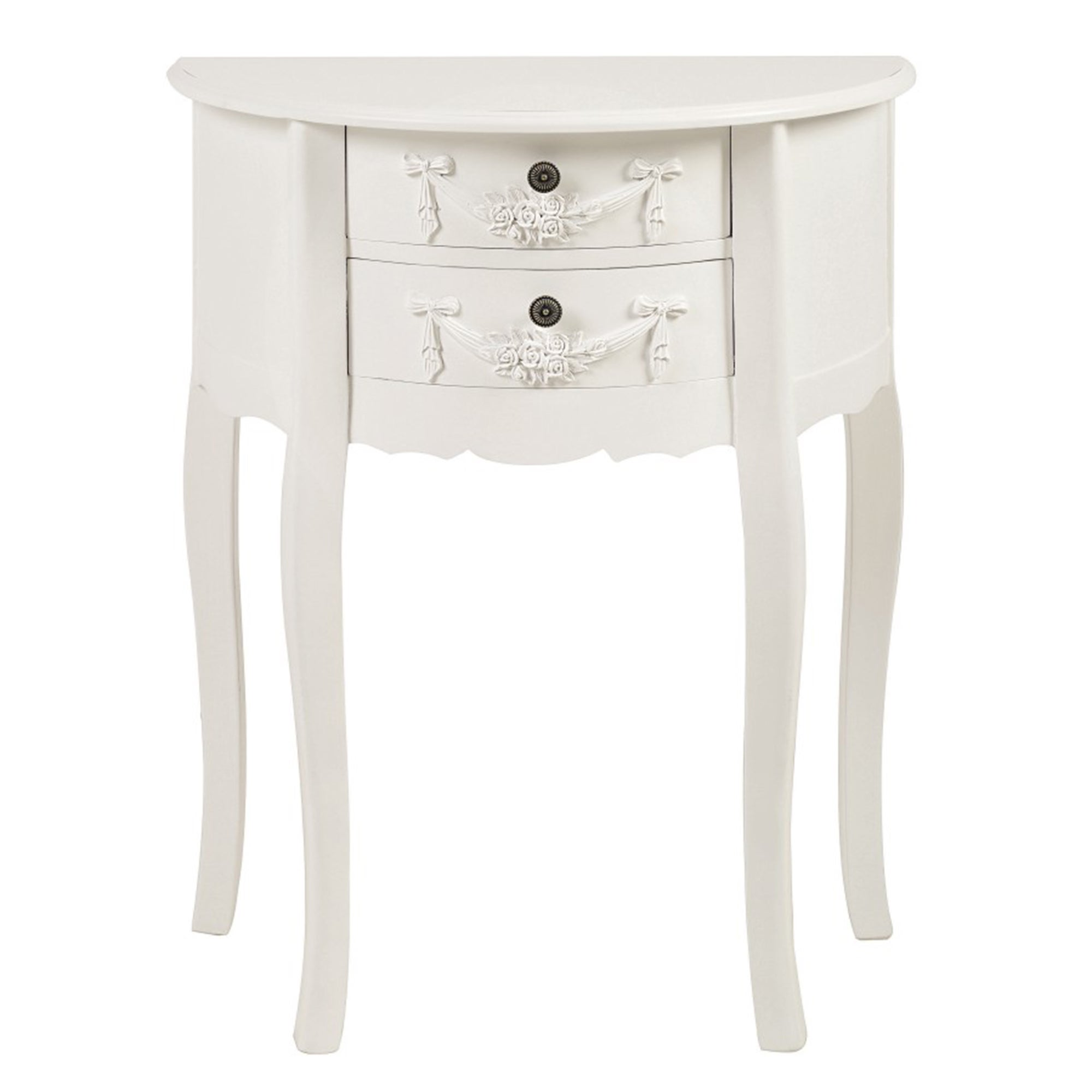Photo of Toulouse white 2 drawer side table white