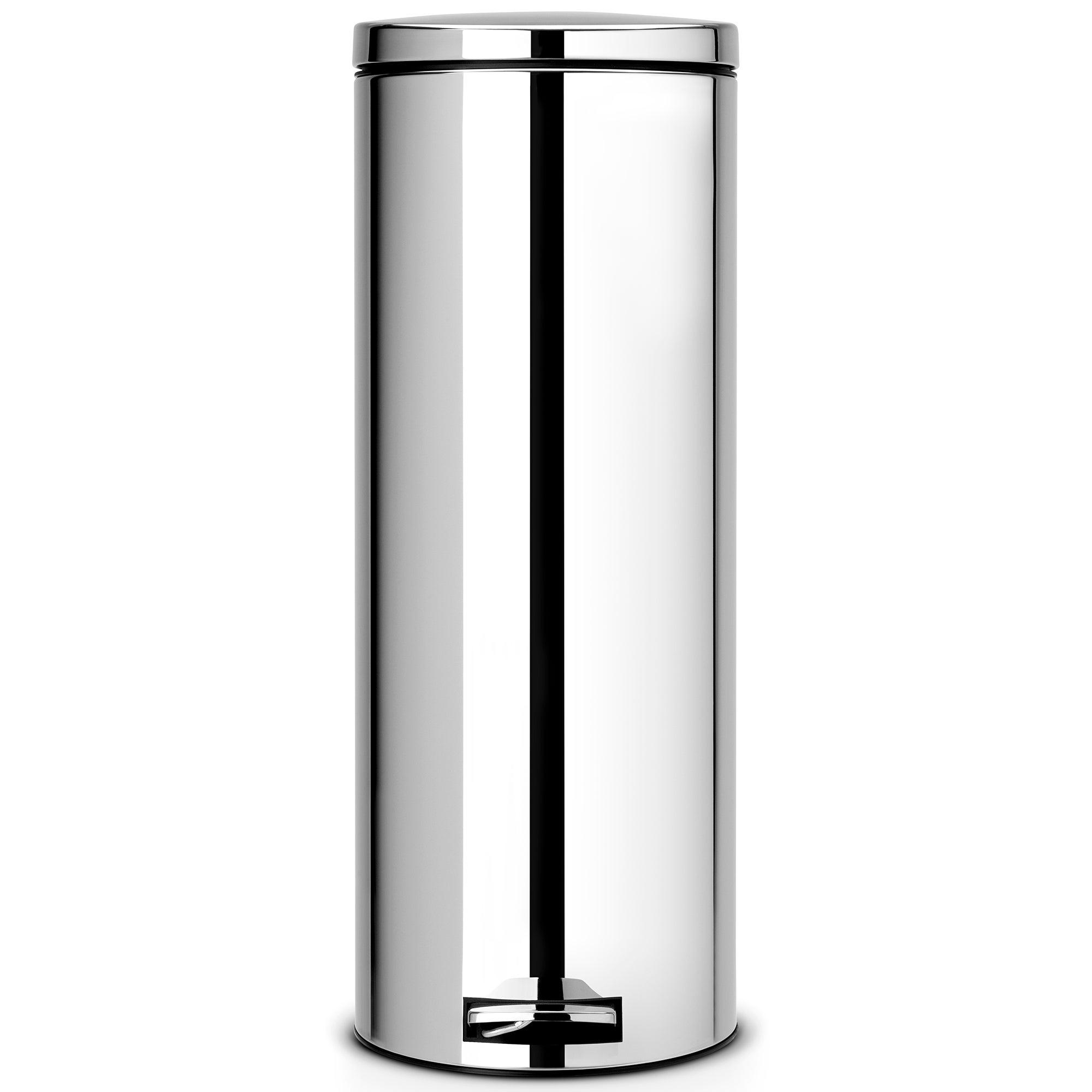 Brabantia brilliant steel 20 litre slim pedal bin silver - Poubelle brabantia 20 litres ...