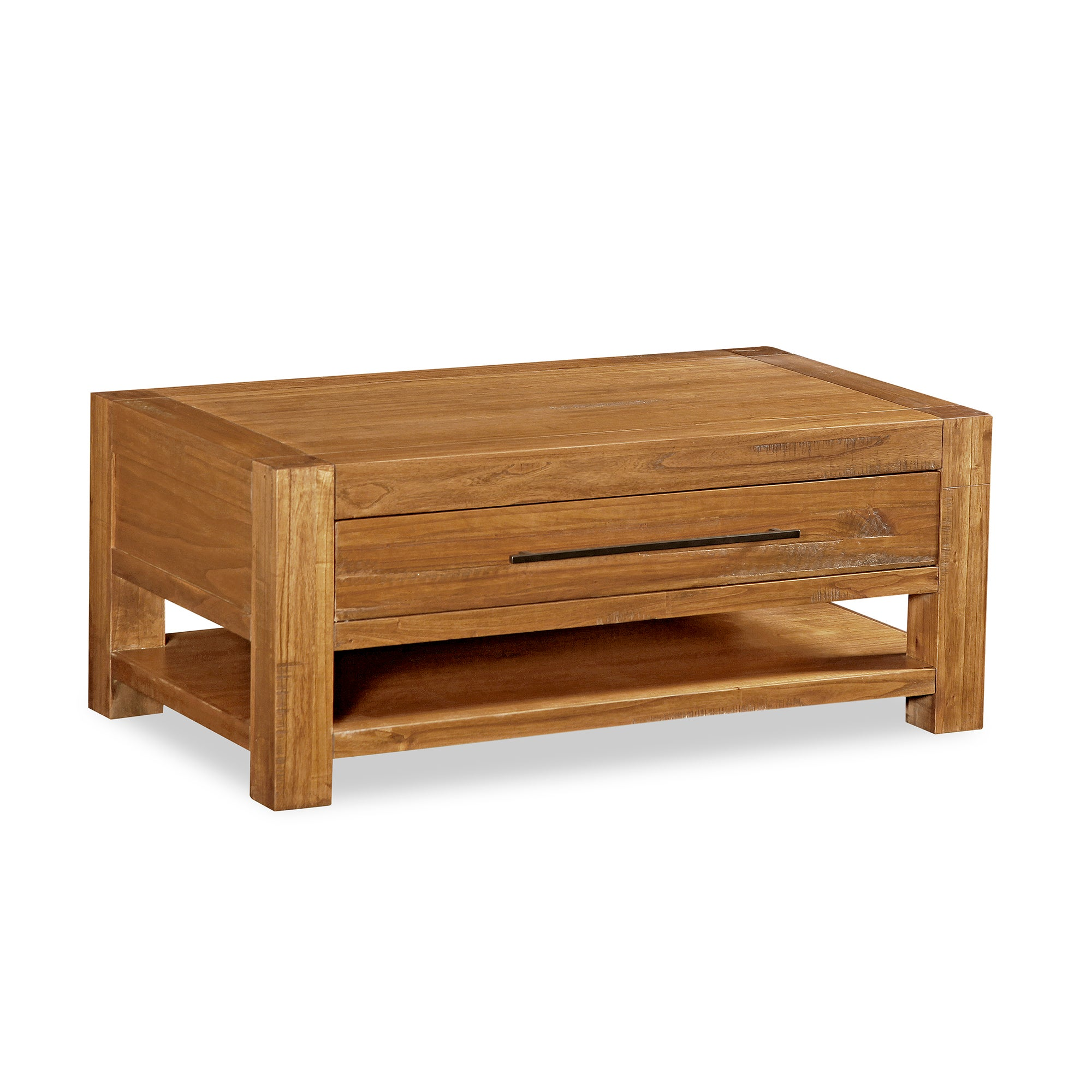 Columbia Acacia Dark Wood Coffee Table Walnut Brown
