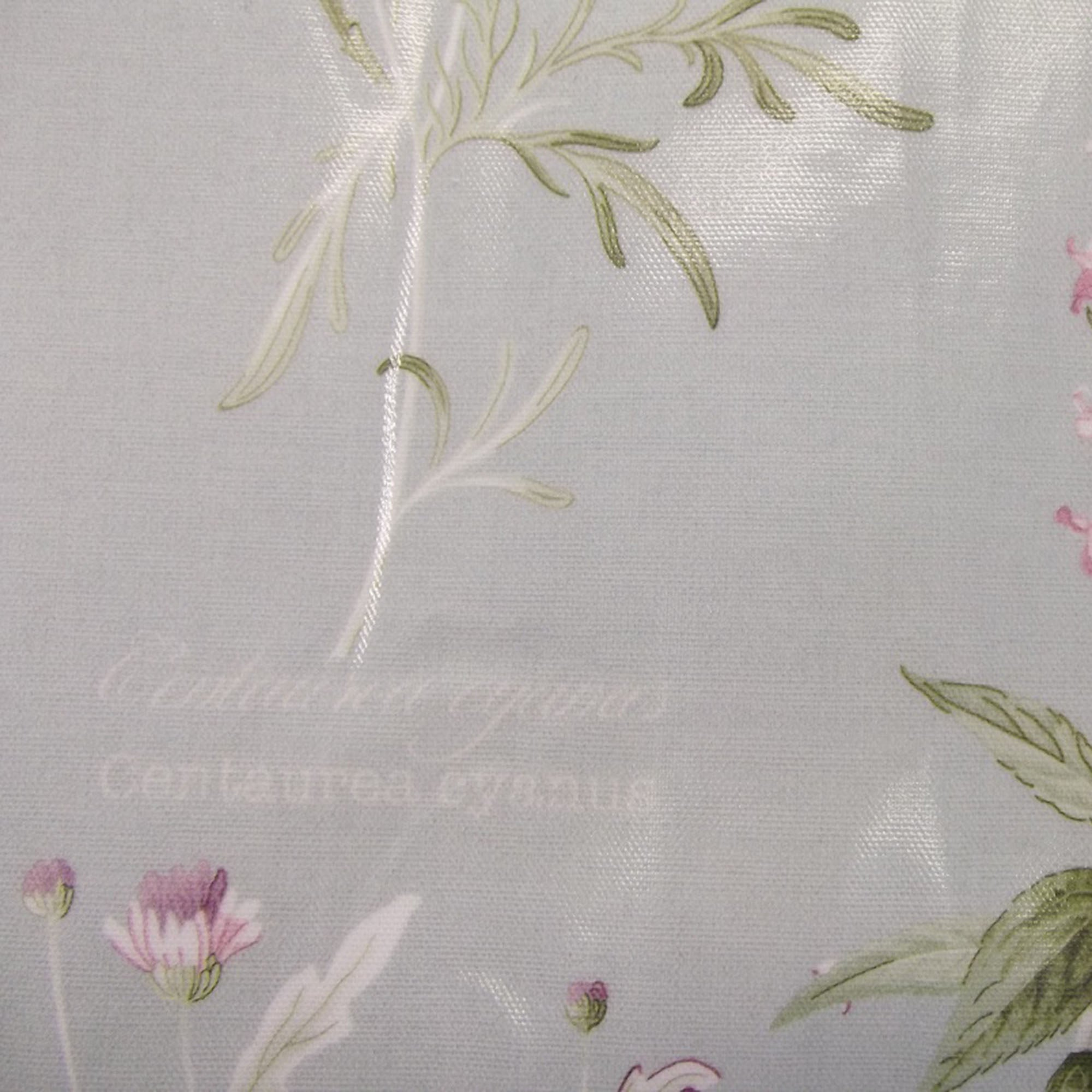 Photo of Botanical garden pvc fabric duck egg blue