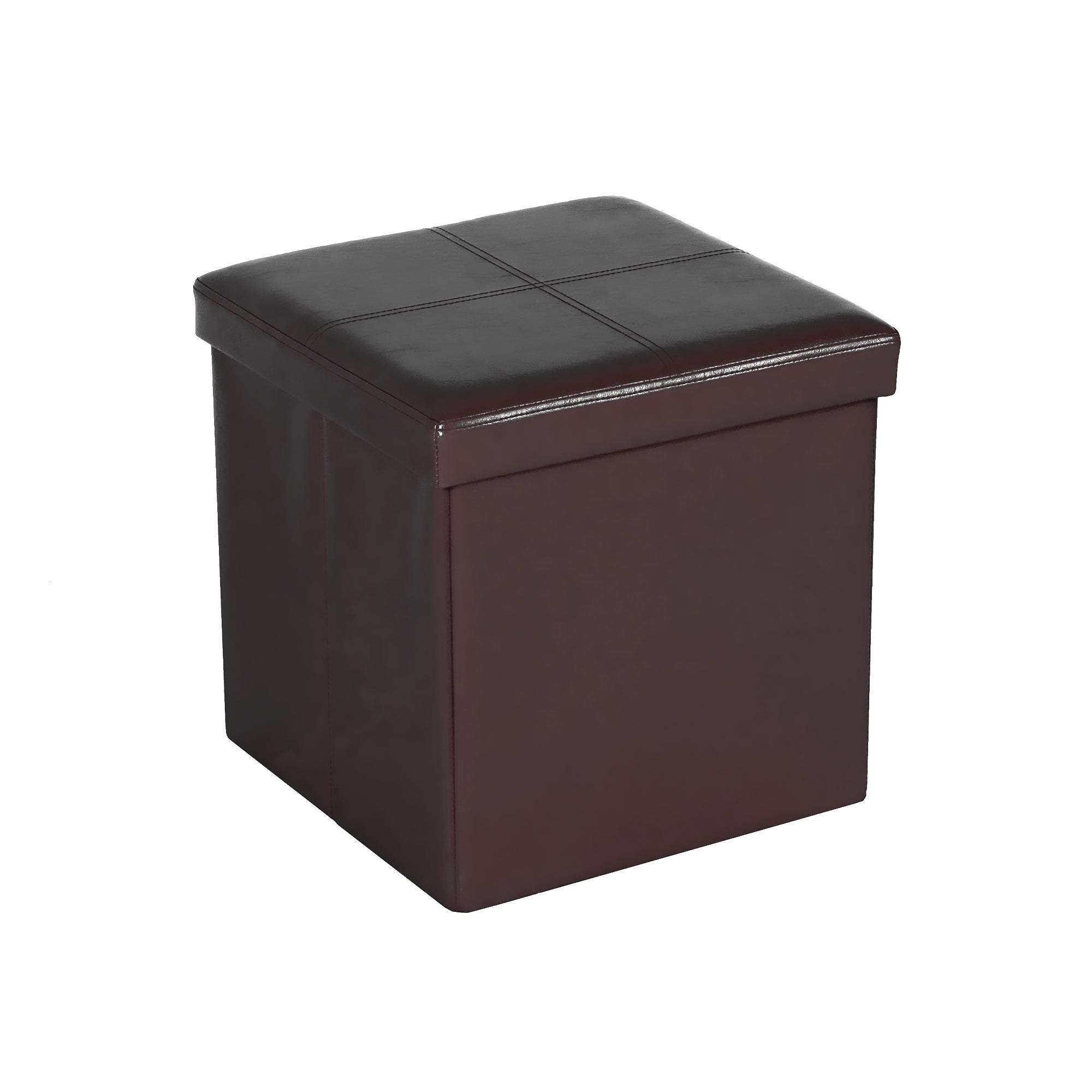 Carter Foldable Cube Ottoman Black