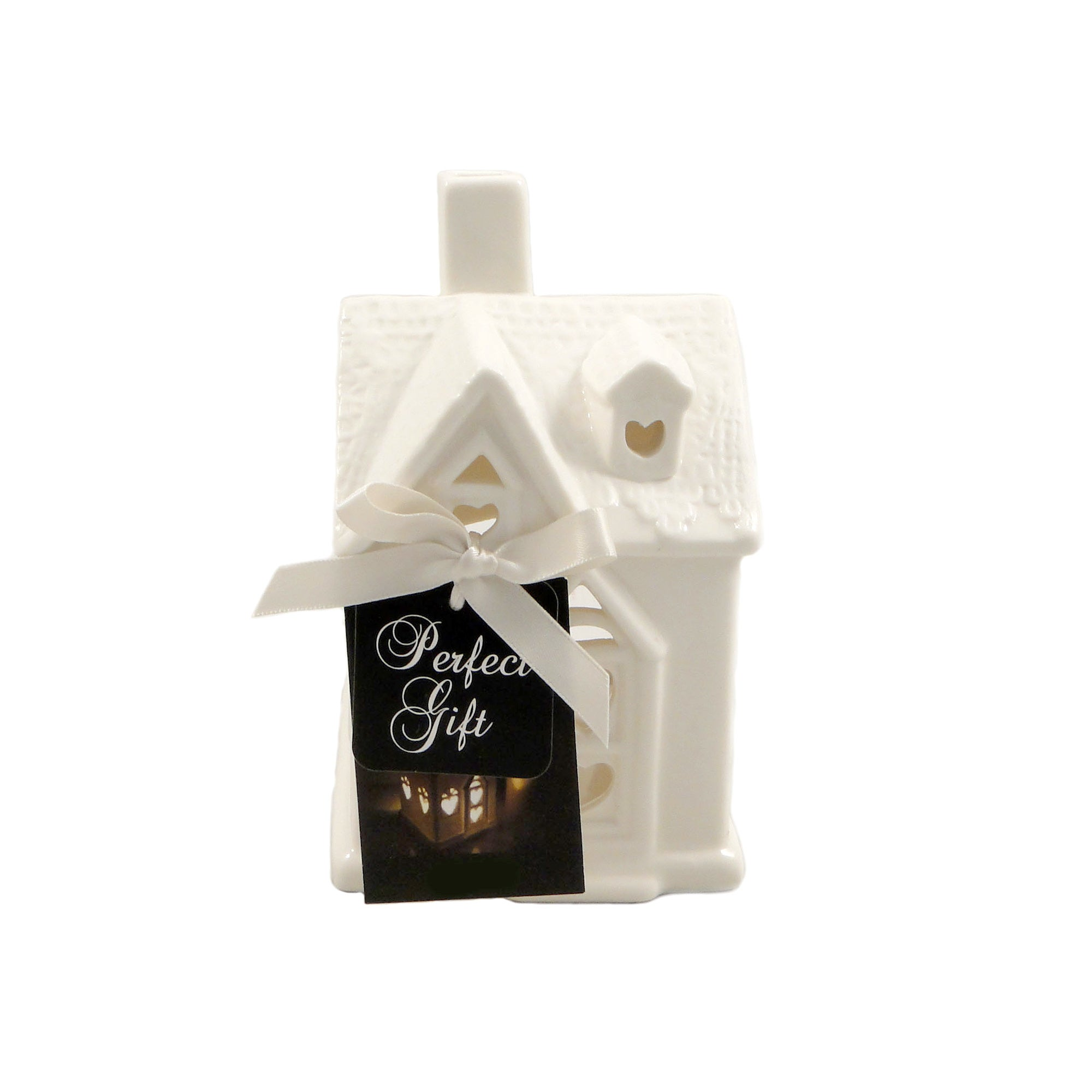 Photo of House tea light holder white