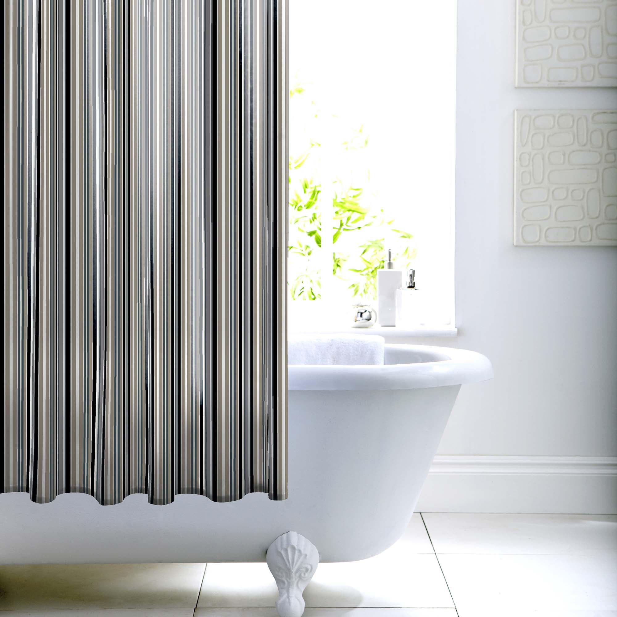 Photo of Newhaven shower curtain black