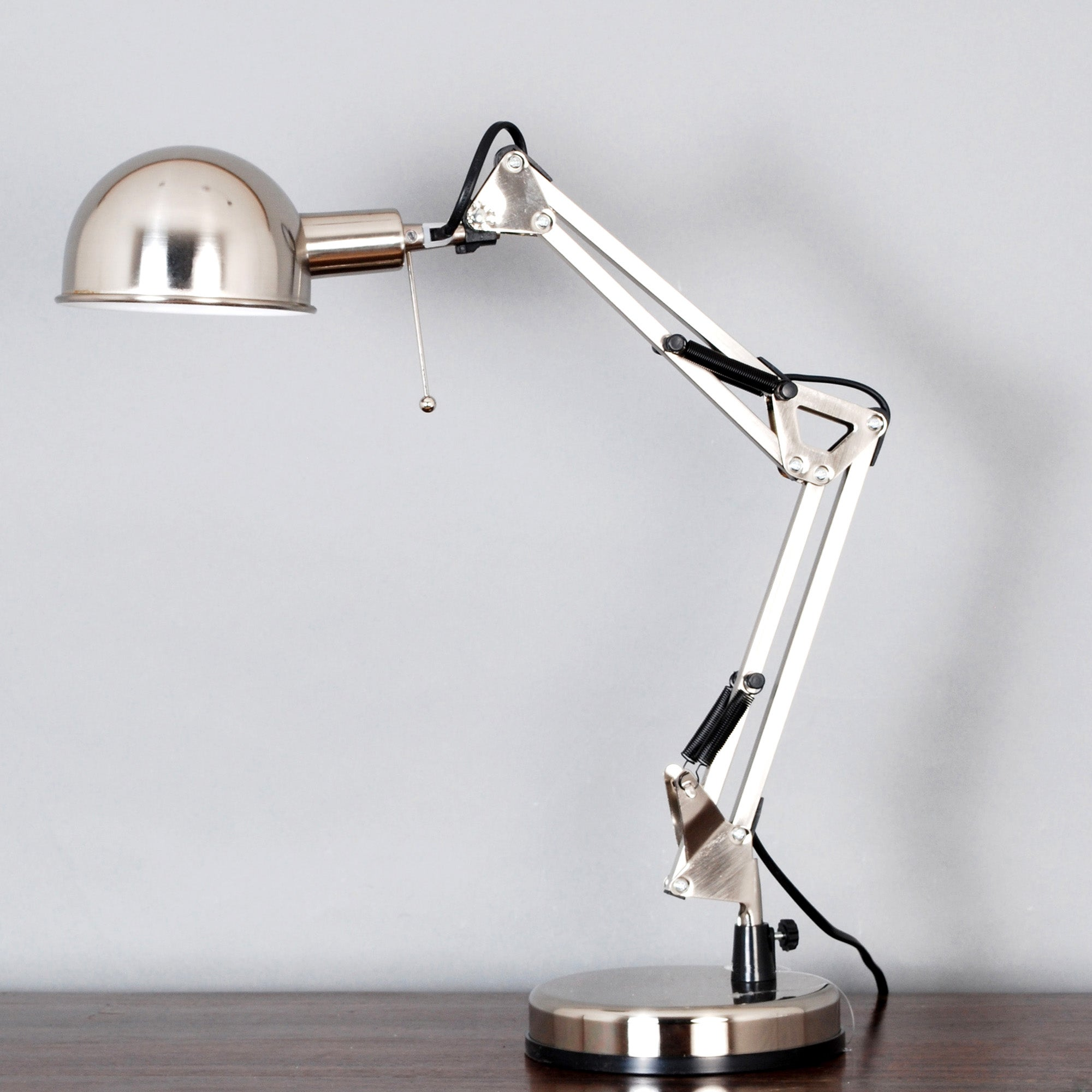 Dome Head Desk Lamp Silver