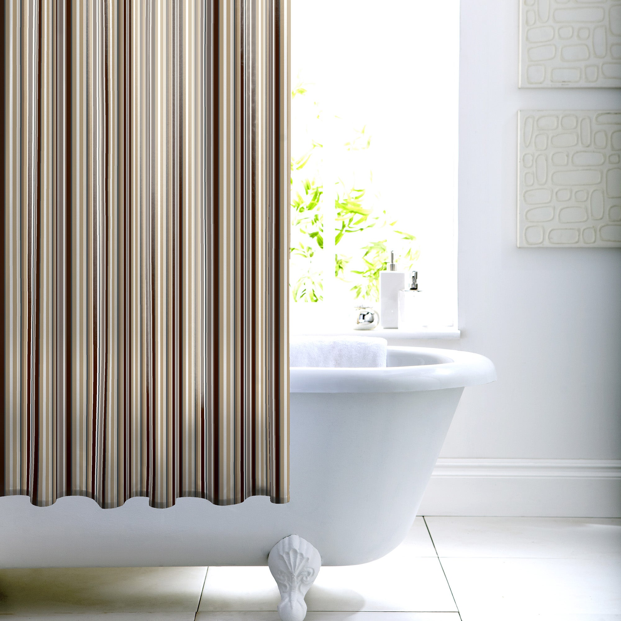 Photo of Newhaven shower curtain light brown / natural