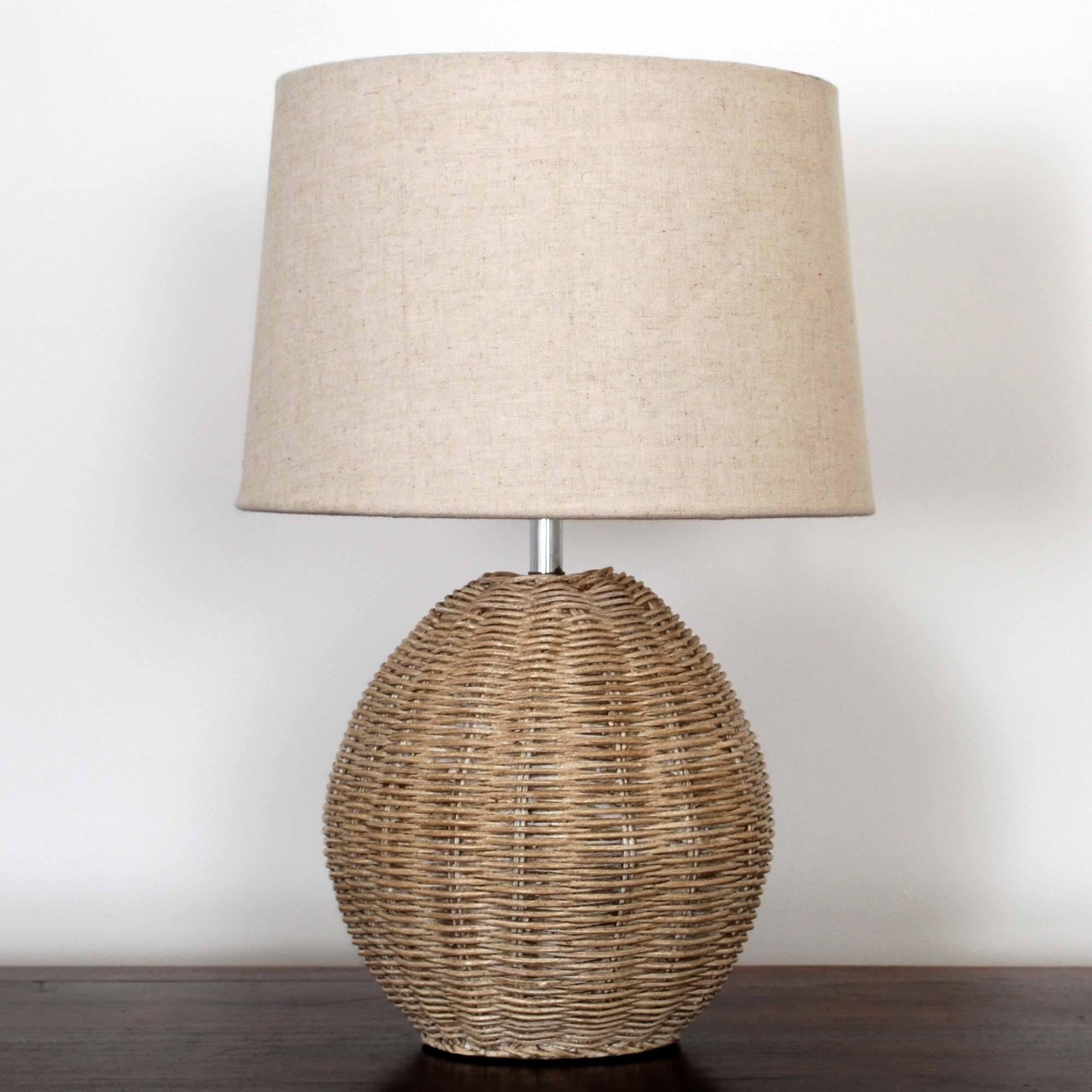 Photo of Ali rattan table lamp light brown / natural