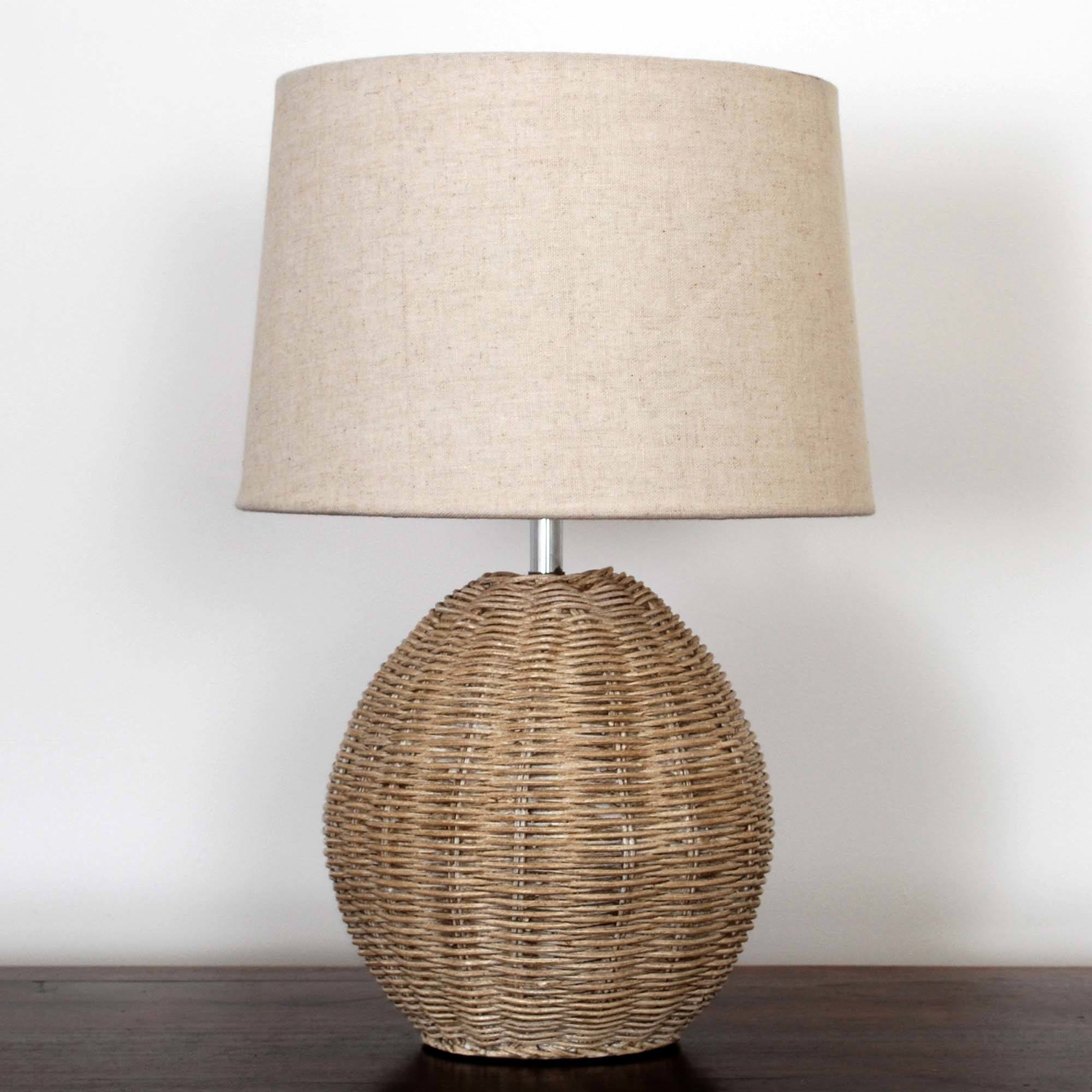 Ali Rattan Table Lamp Light Brown / Natural